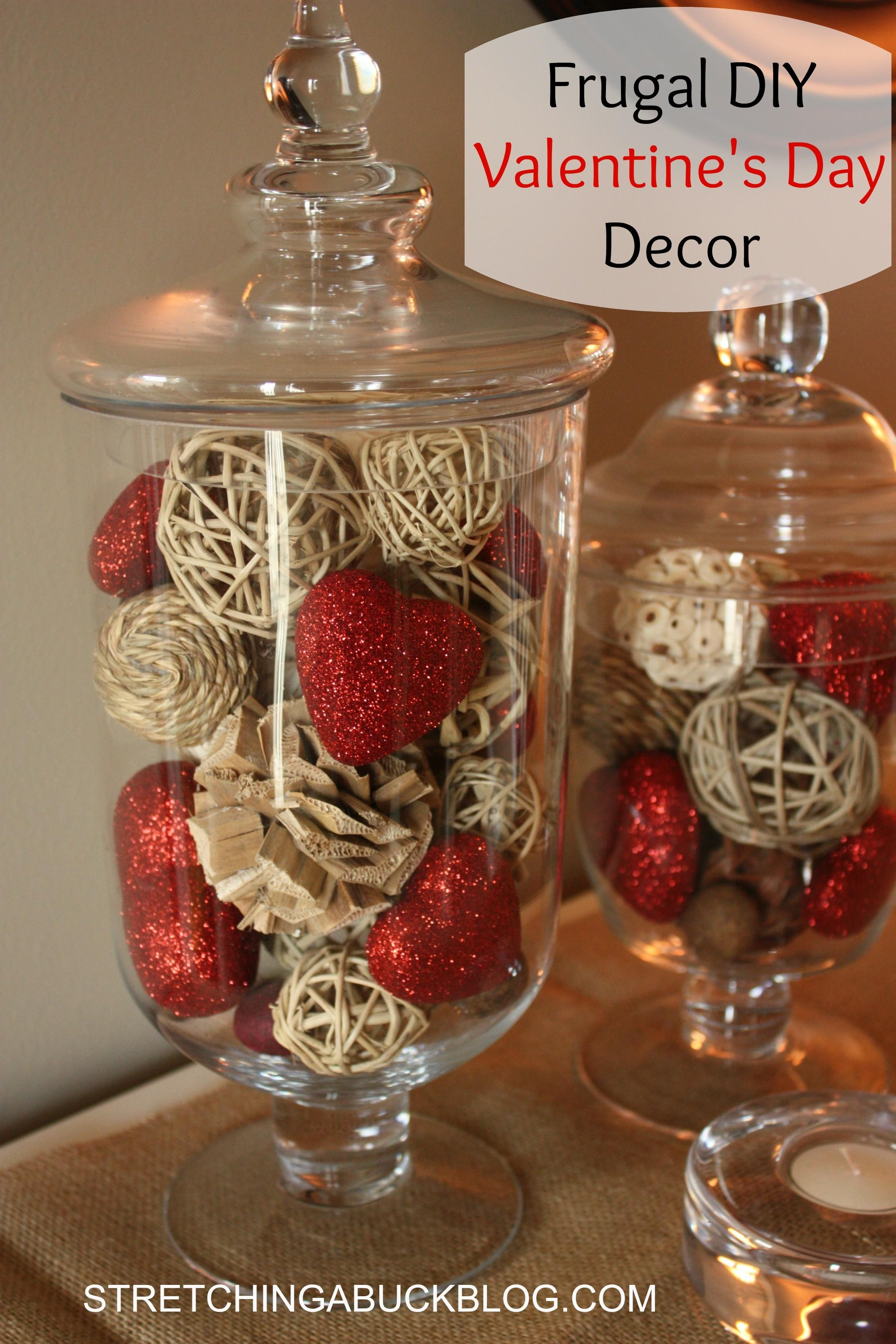 Frugal Diy Valentine Day Decor Ideas Stretching