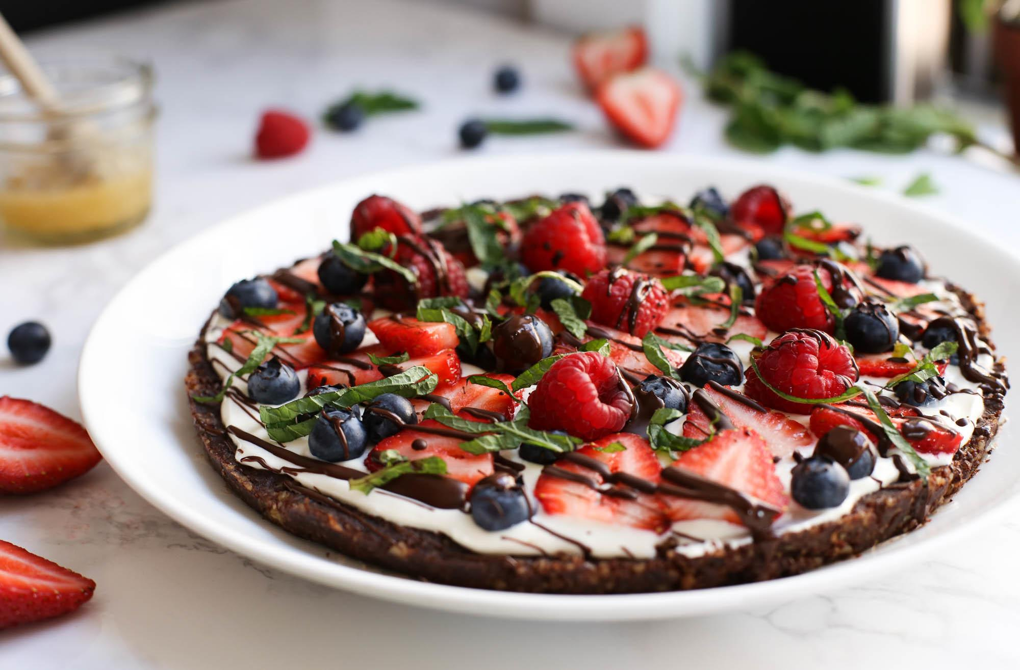 Fruit Pizza Chocolate Crust