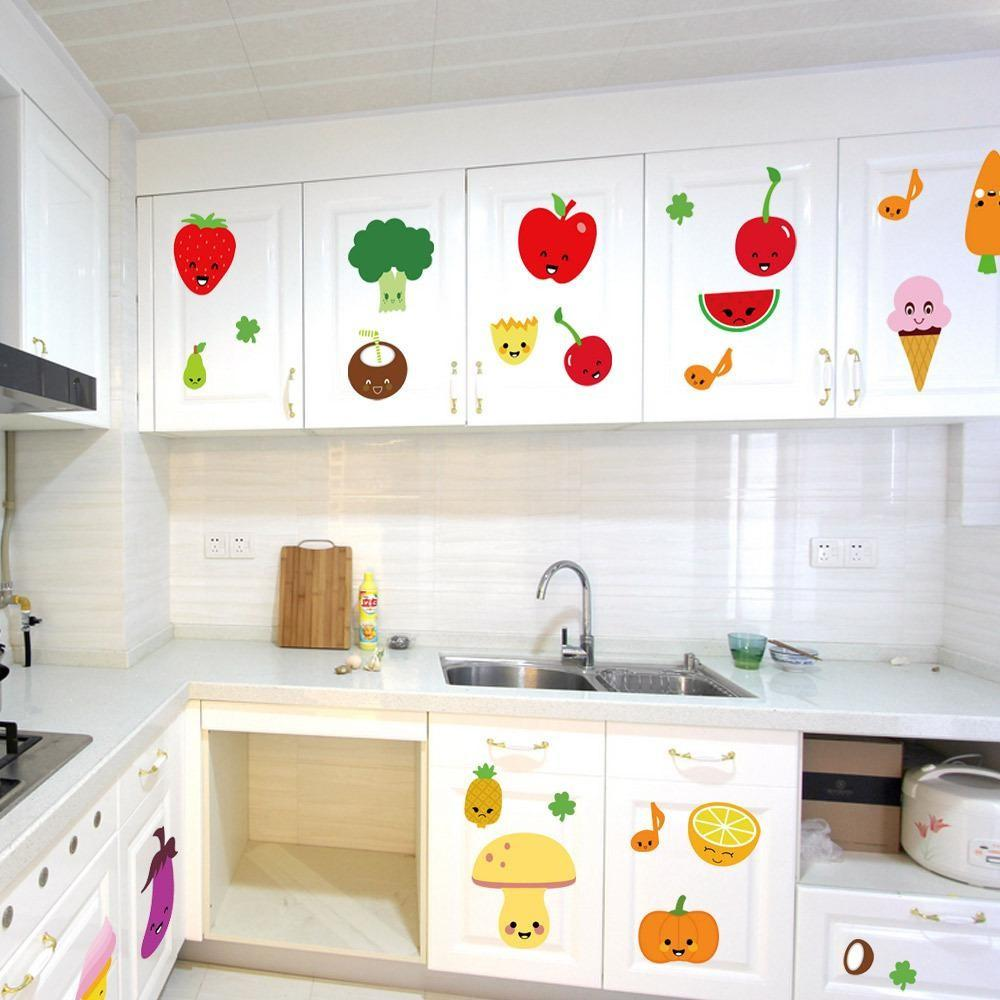 Fruits Kitchen Wall Sticker Children Bedroom Living Room