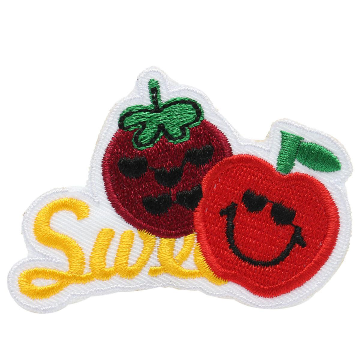 Fruits Personalized Embroidery Diy Fabric Sticker Patch