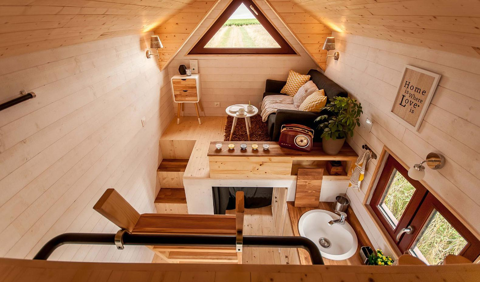 Fully Furnished Odyss Tiny House France Easily Fits