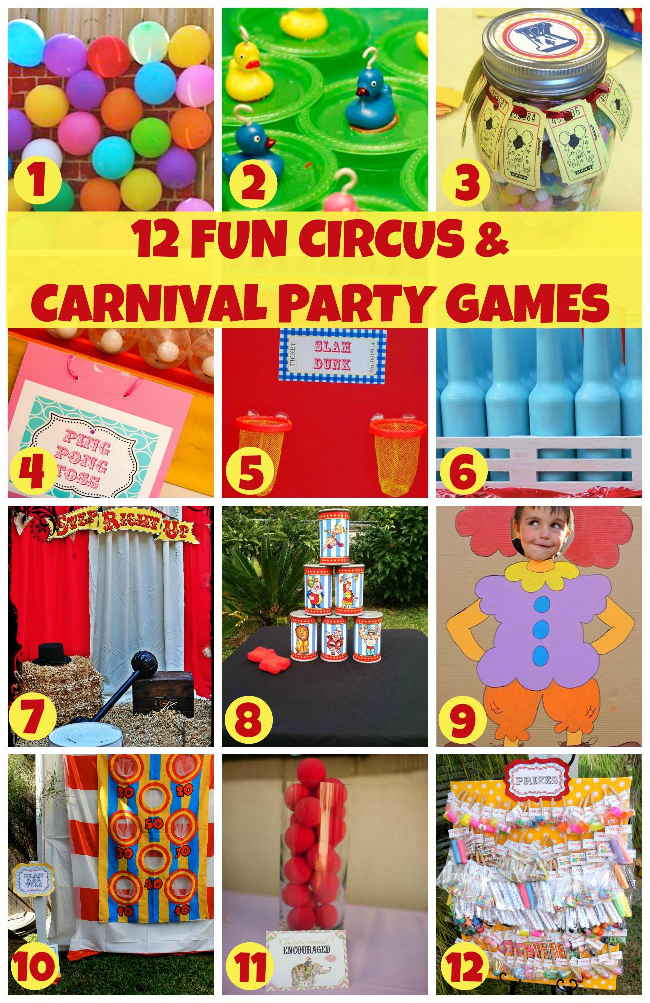Fun Circus Carnival Party Games Catch