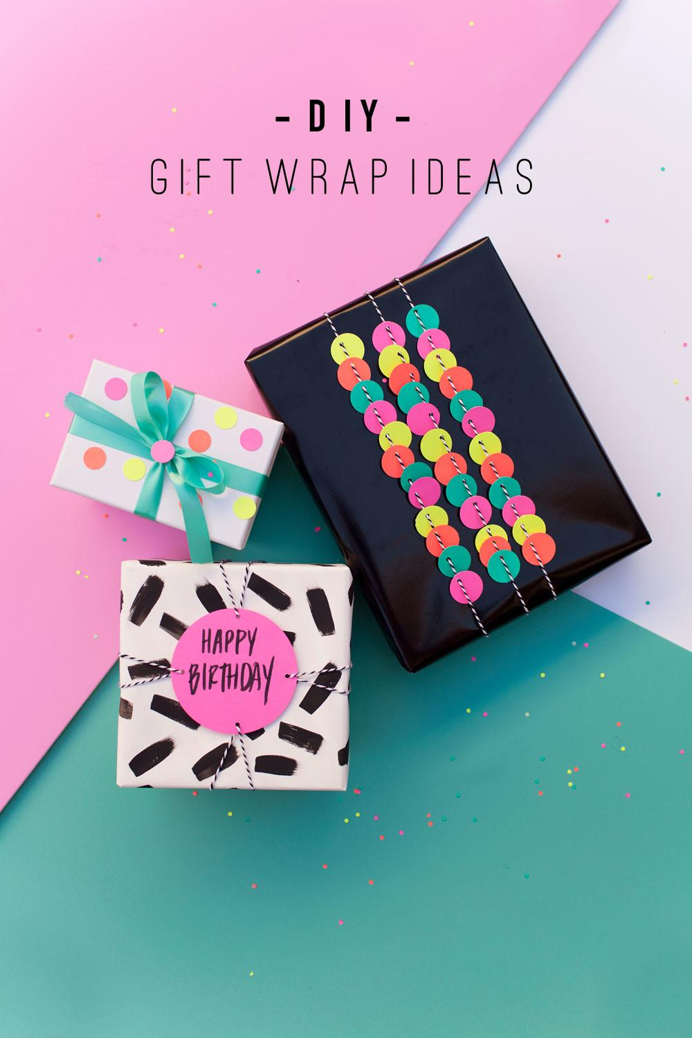 Fun Gift Wrap Ideas Using Hole Punch Tell Love Party
