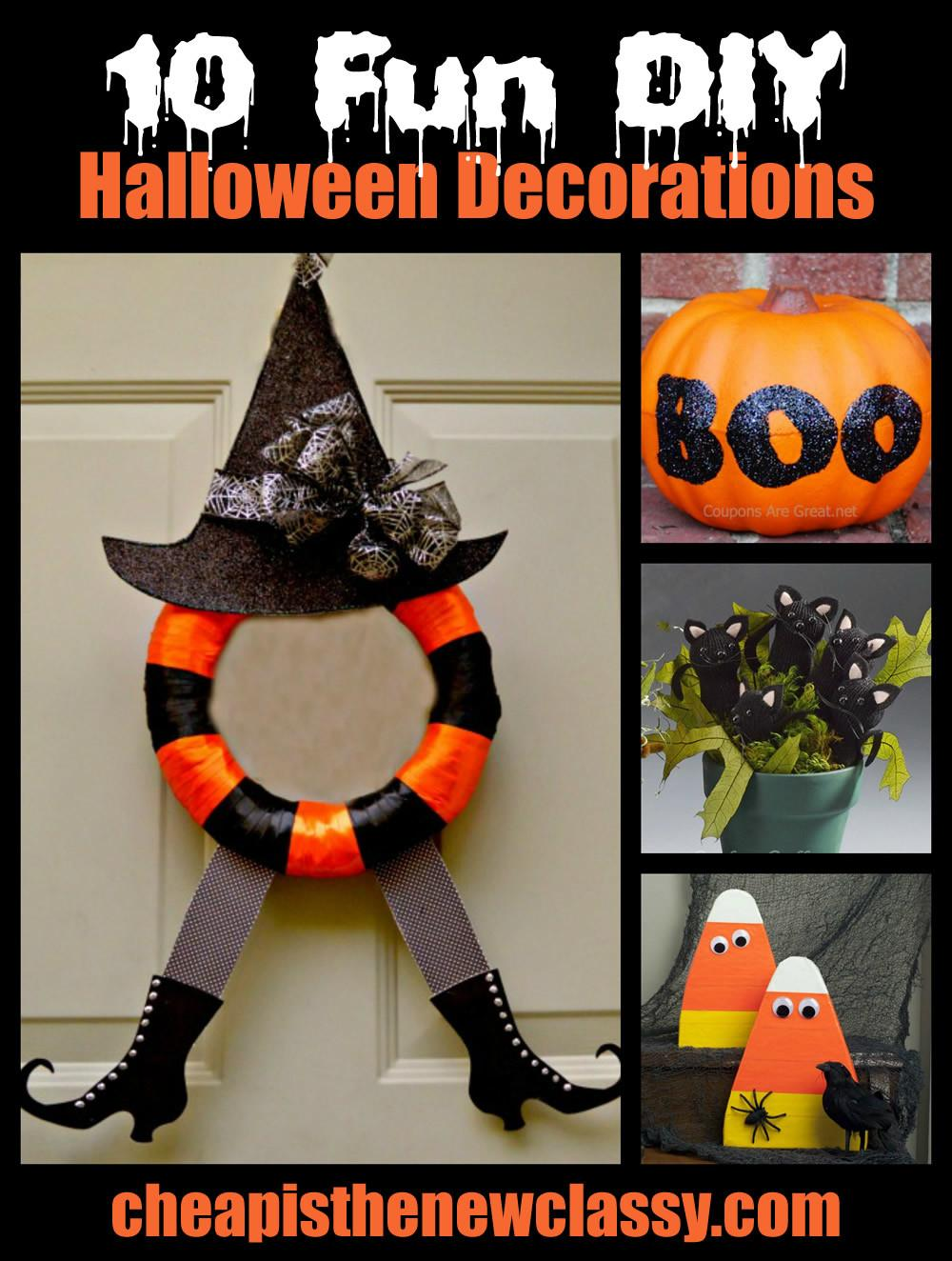 Fun Spooky Diy Halloween Decorations