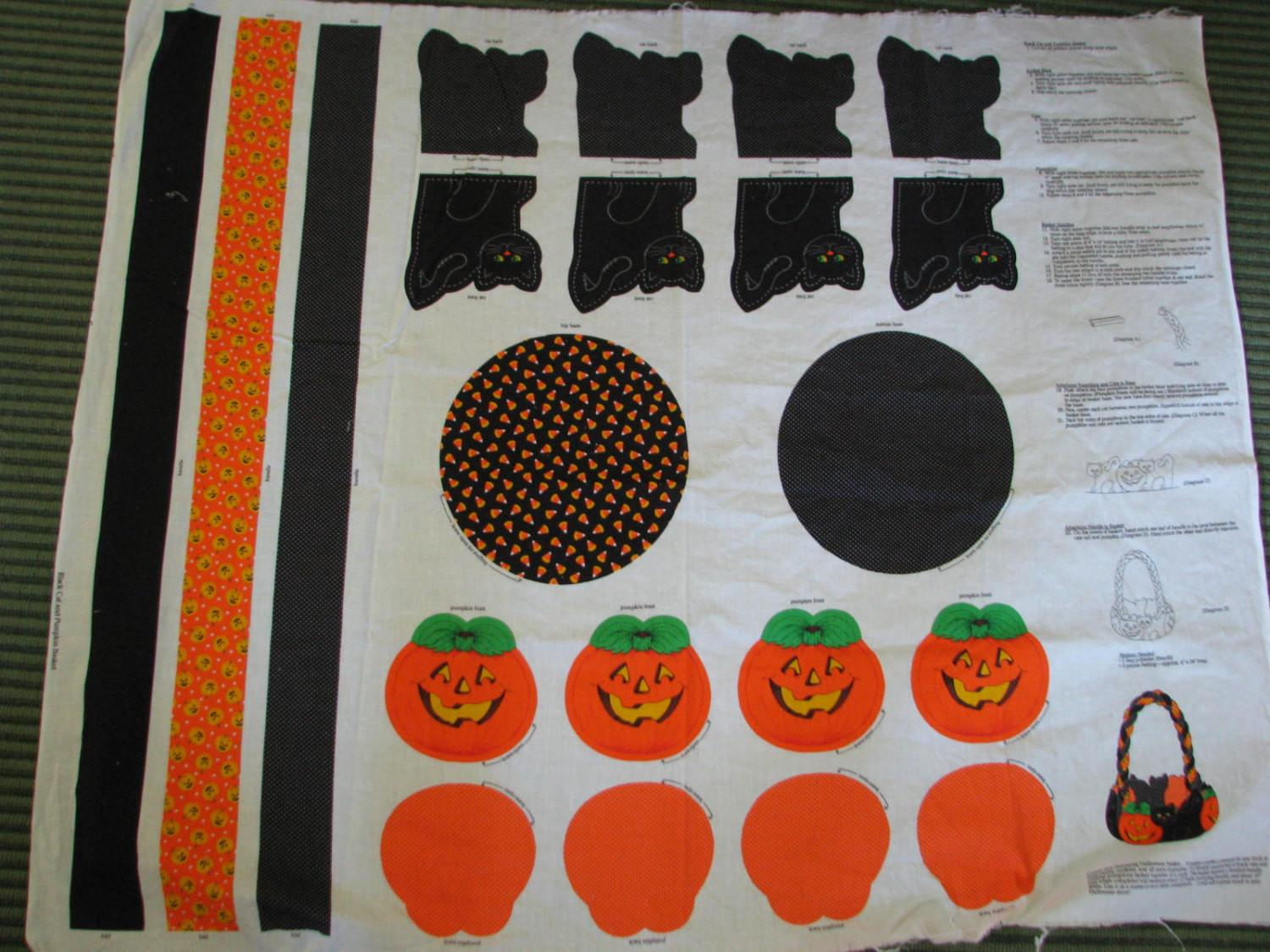 Fun Vintage Halloween Fabric Craft Panel
