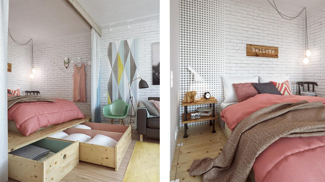 Functional Interior Designed Soothing Pastel Colours