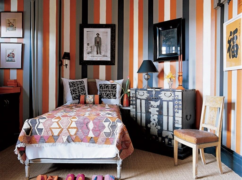 Funky Bedroom Decor Eclectic Printed Bed Sheet