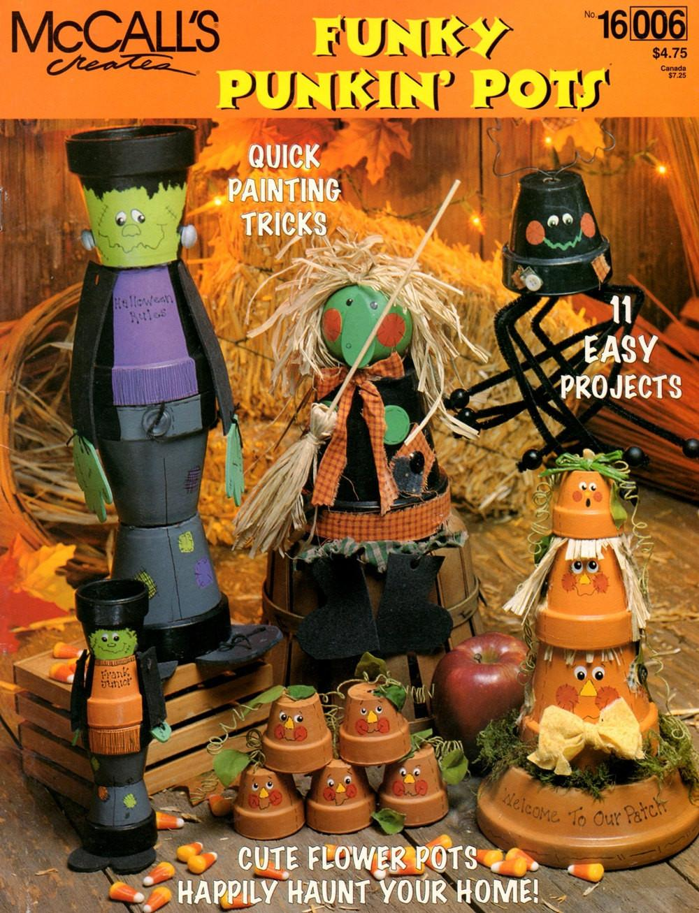 Funky Punkin Pots Halloween Clay Pot Characters