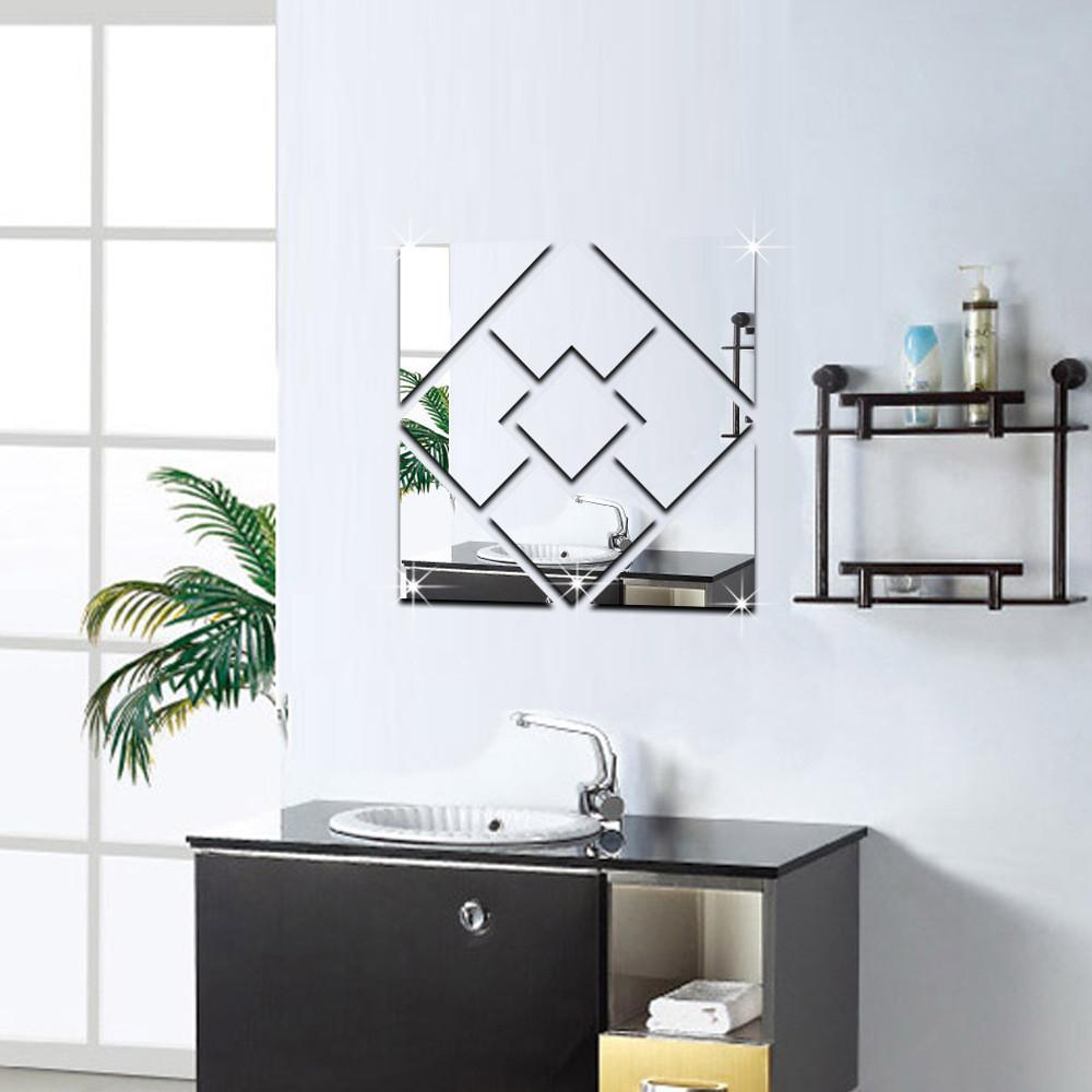 Funlife Home Decoration Geometric Square Wall Stickers
