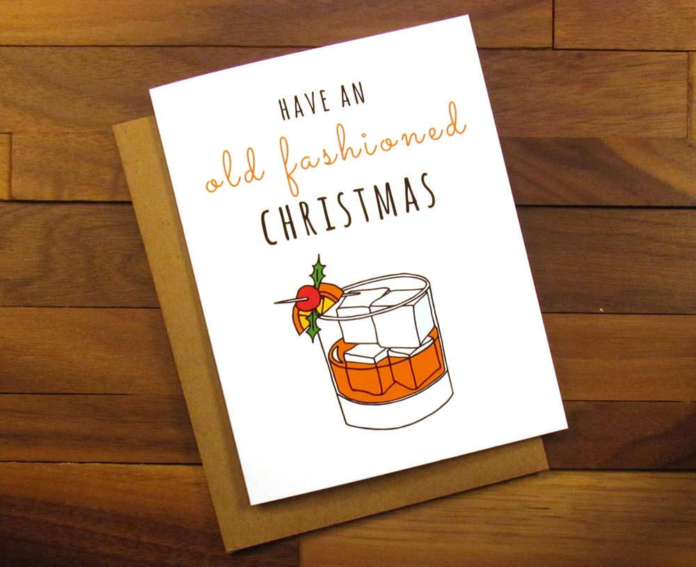Funny Christmas Card Old Fashioned Mad Men