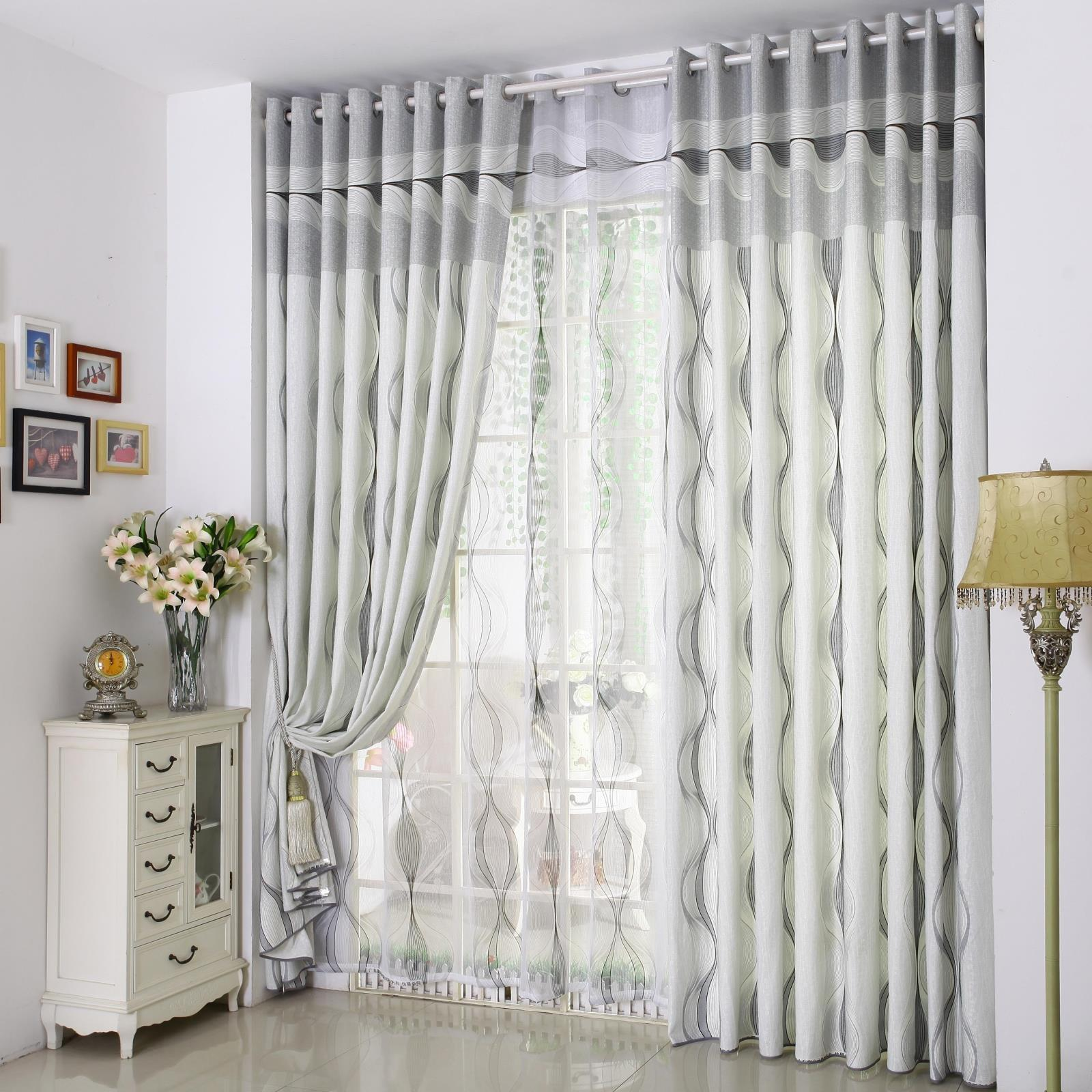 Funny Gray Striped Curtains Modern Design