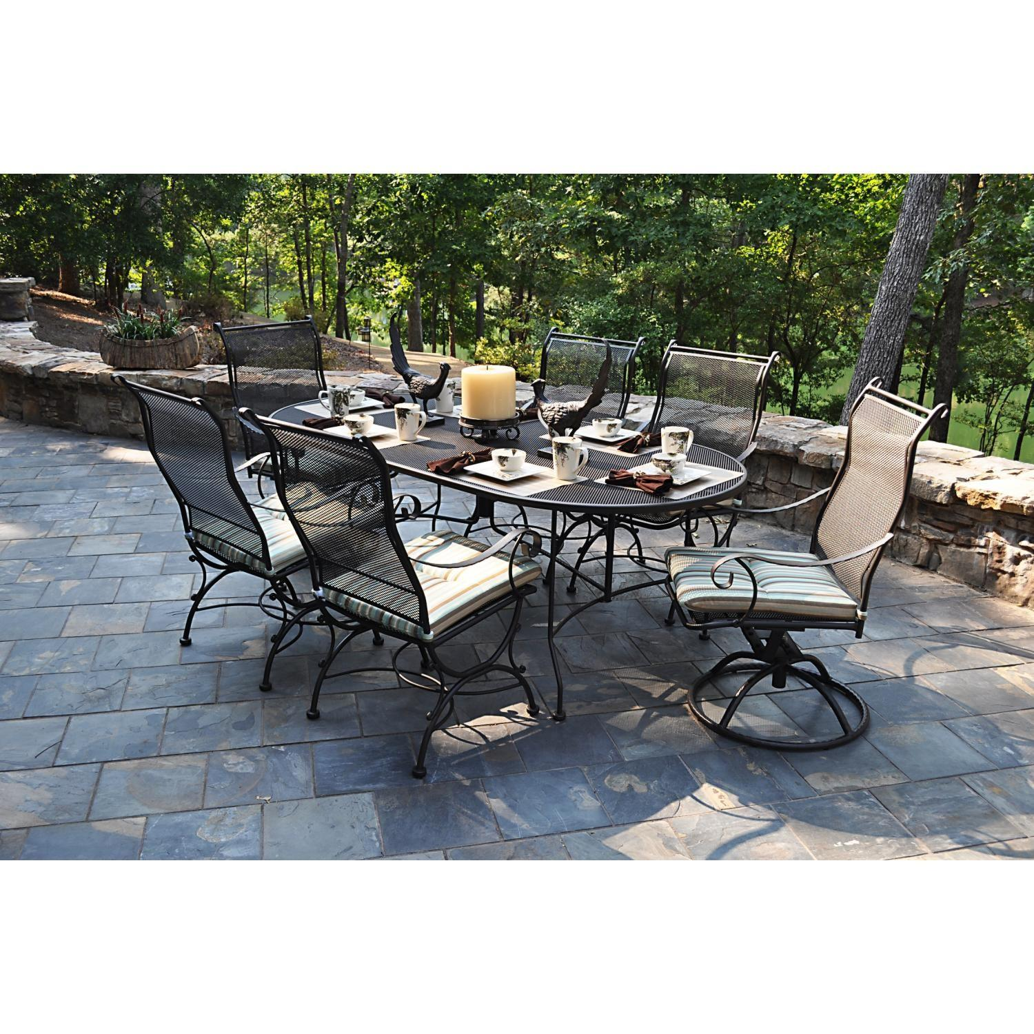 Furniture Art Stone Outdoor Top Table Black Iron