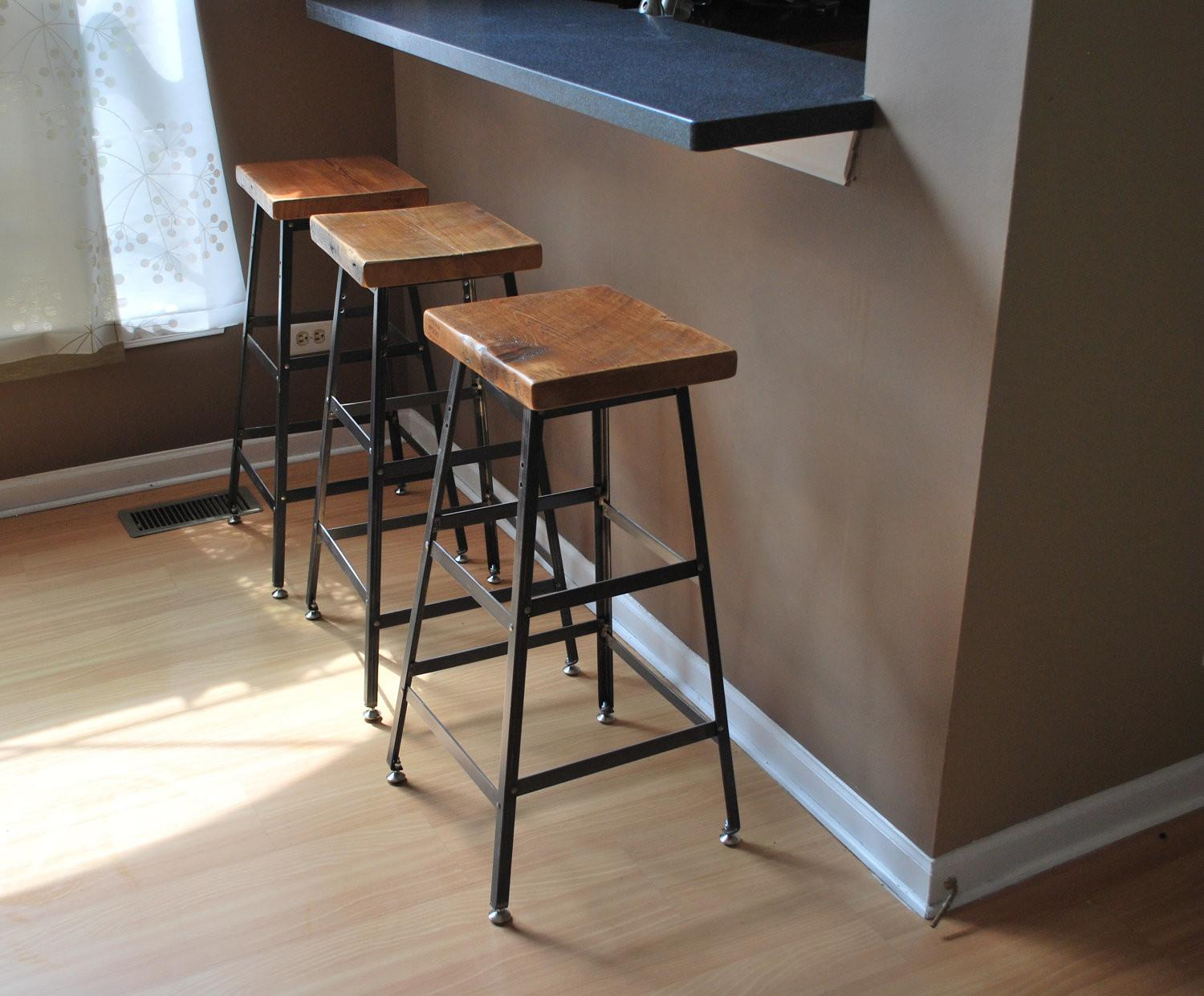 Furniture Black Wrought Iron Bar Stool Leave Accent