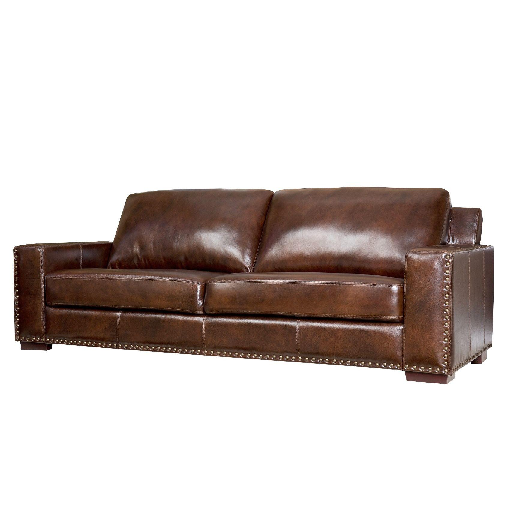 Furniture Brown Distressed Leather Sofa Seat