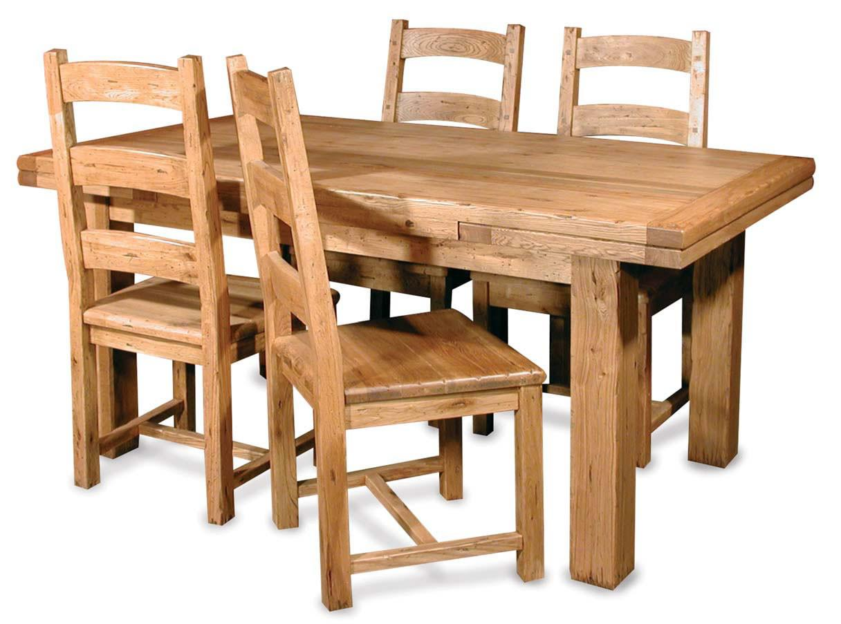 Furniture Brown Varnish Wooden Dining Table Sets