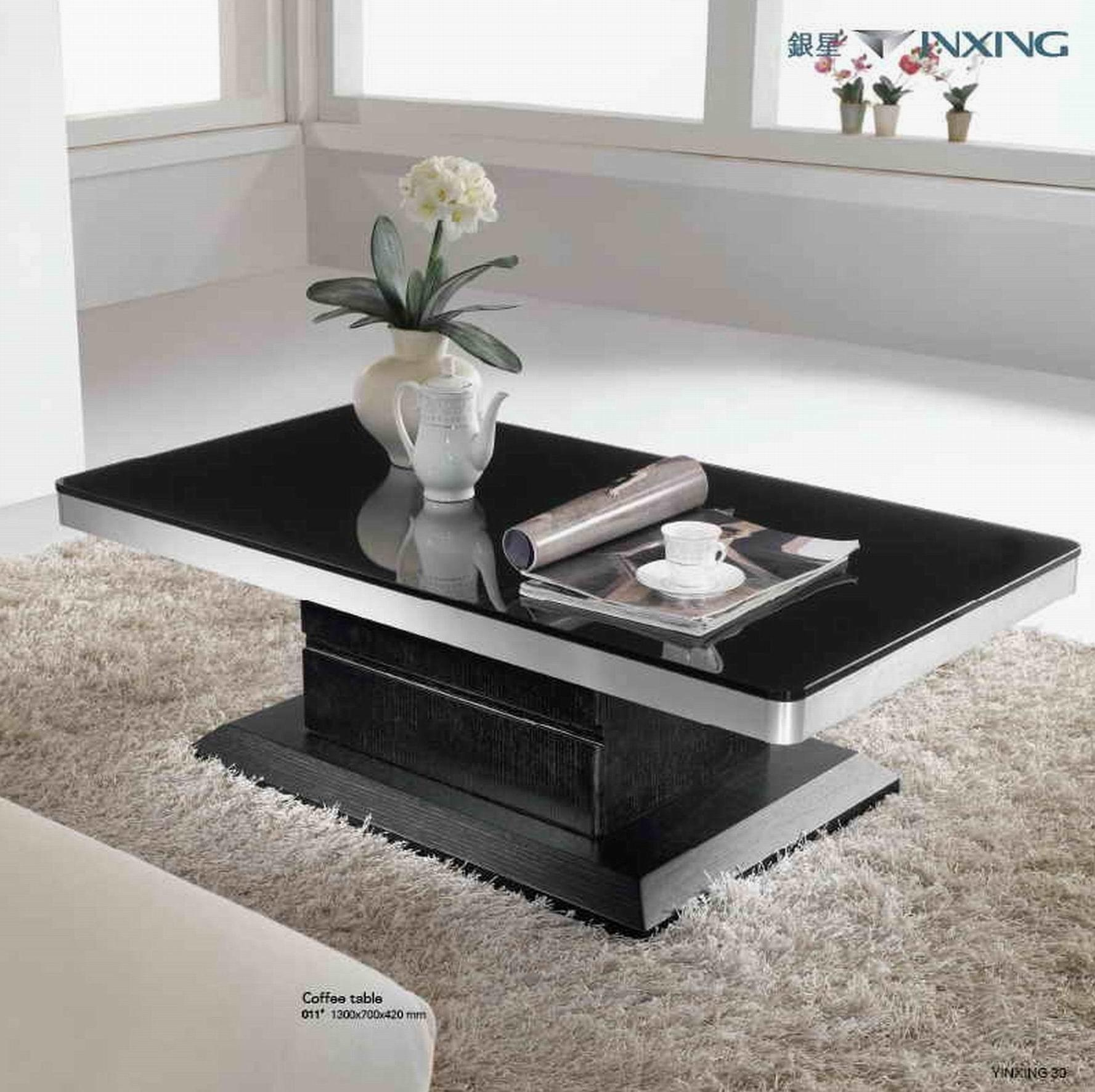 Furniture Coffee Table Designs Black Rectangle