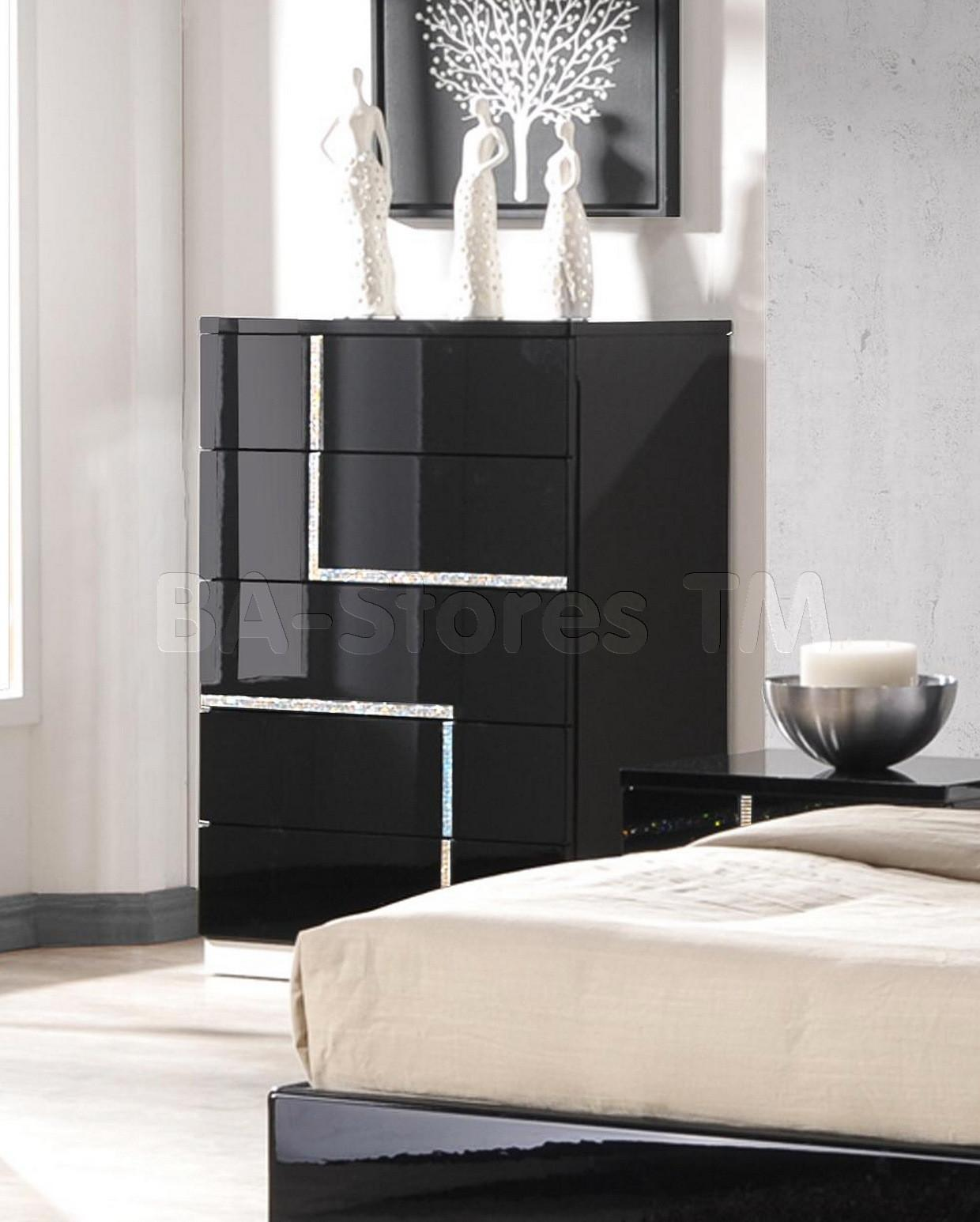 Furniture Design Ideas Mysterious Black Lacquer Bedroom
