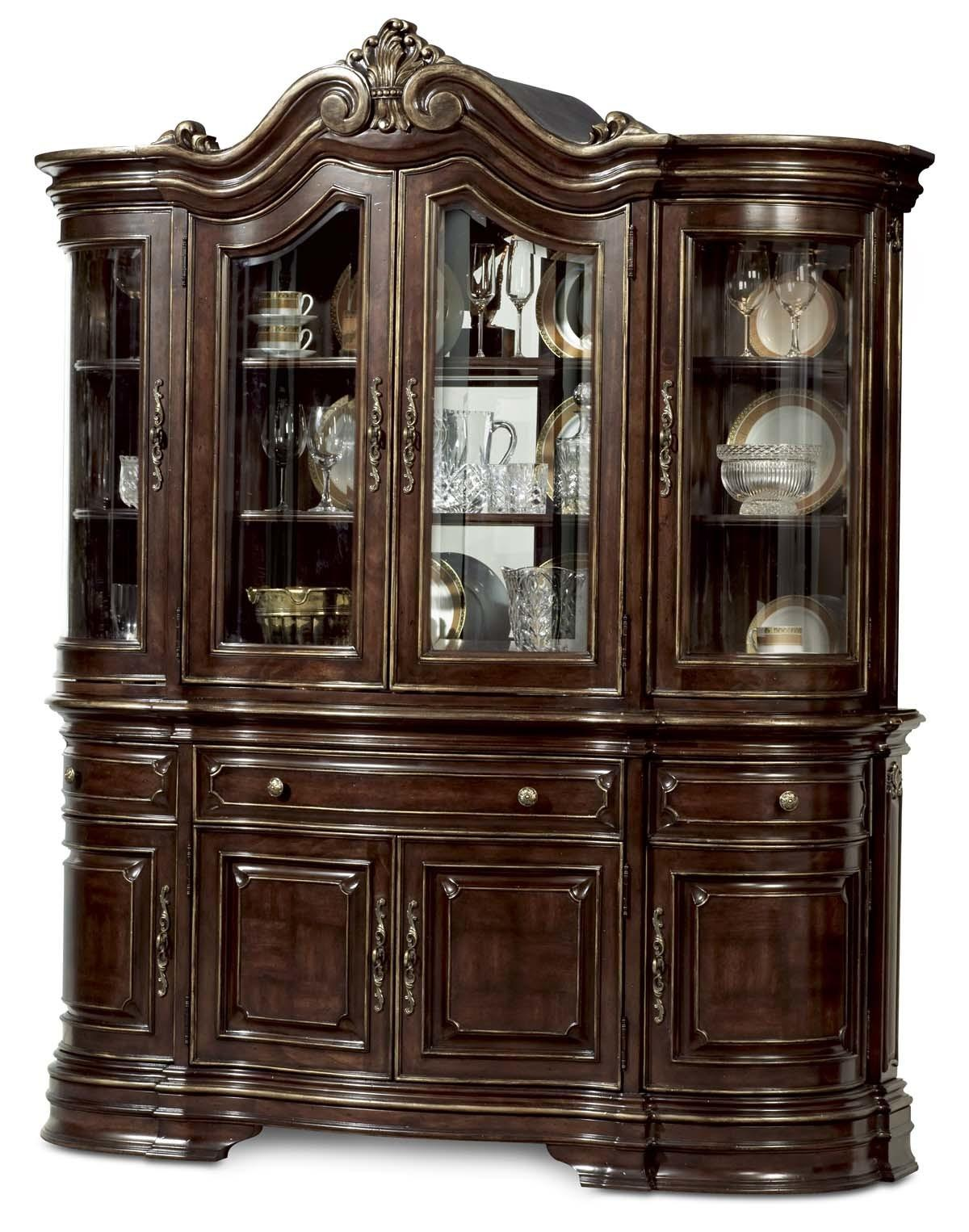 Furniture Dining Room China Cabinet Cherry