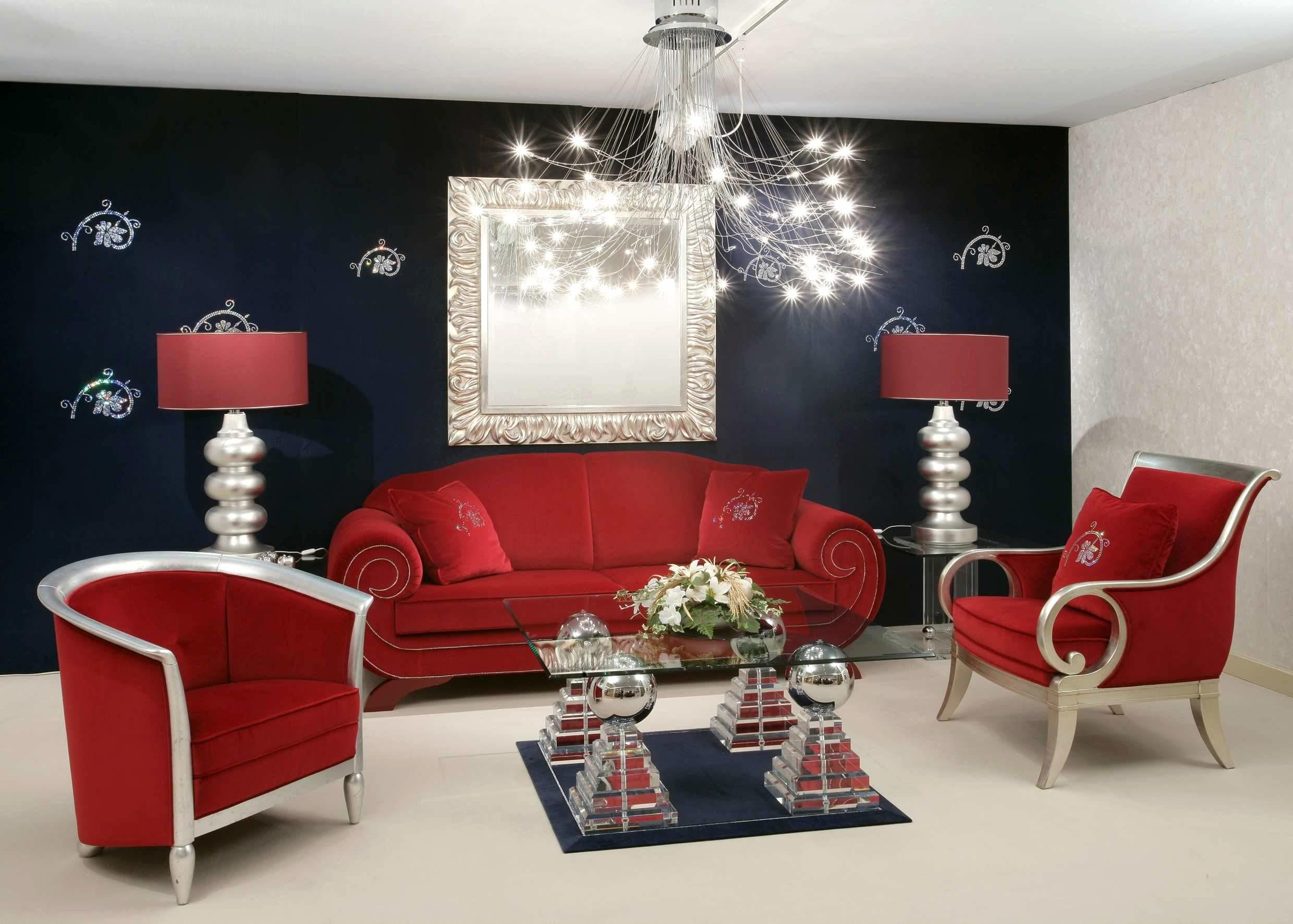 Furniture Eye Catching Red Modern Couch Create New