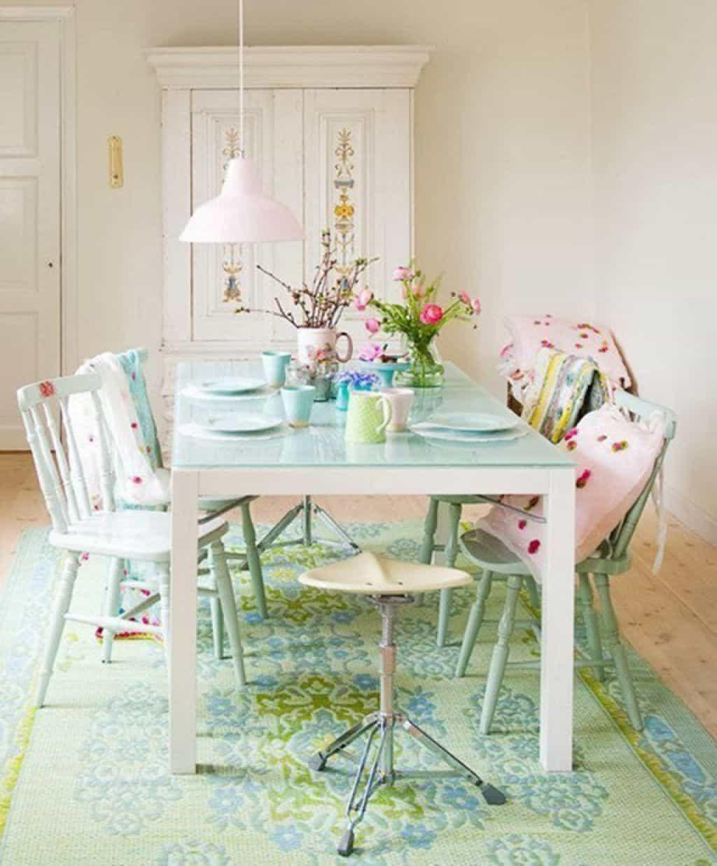 Furniture Fascinating Shabby Chic Dining Room Table