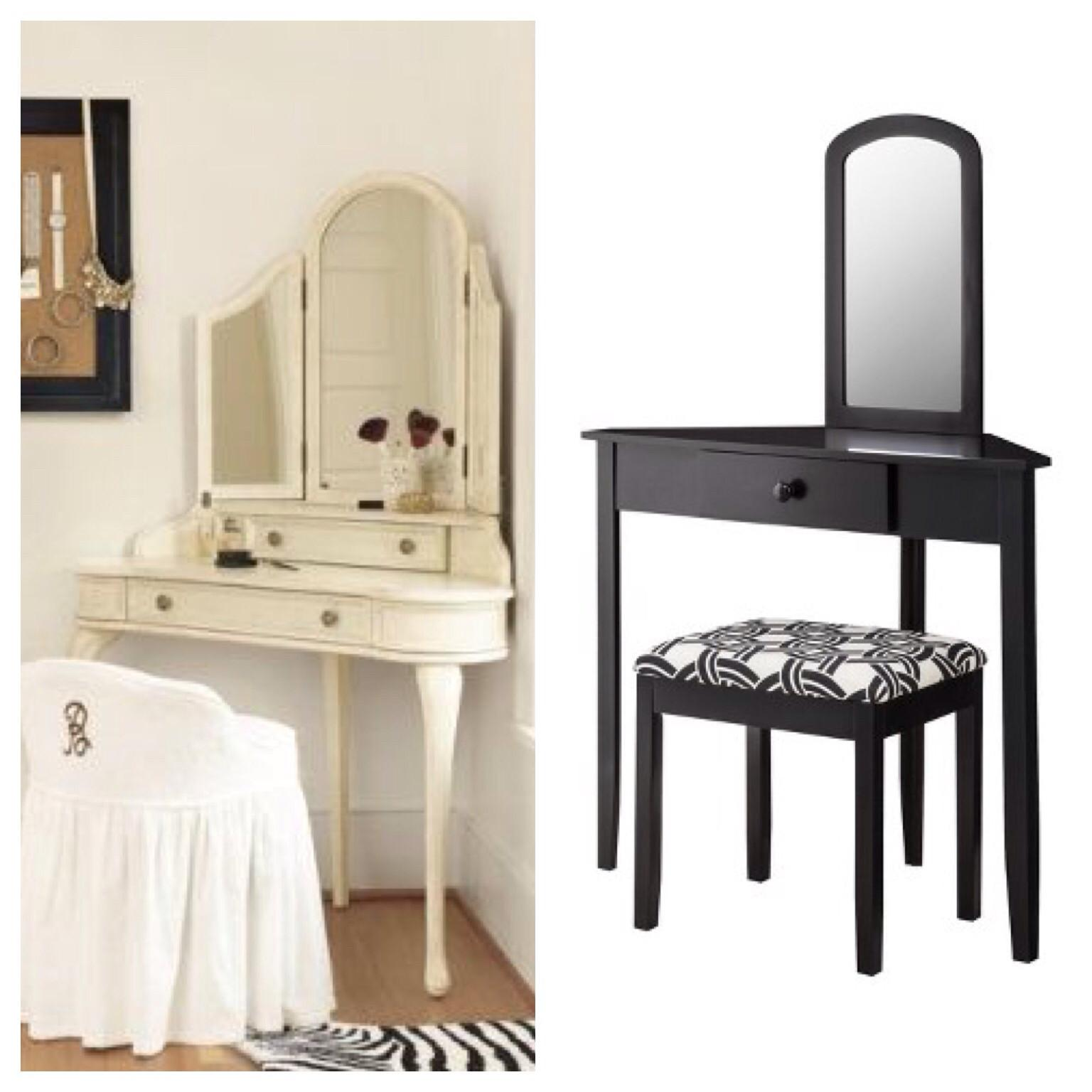 Furniture Gorgeous Small Makeup Vanity Amusing Home