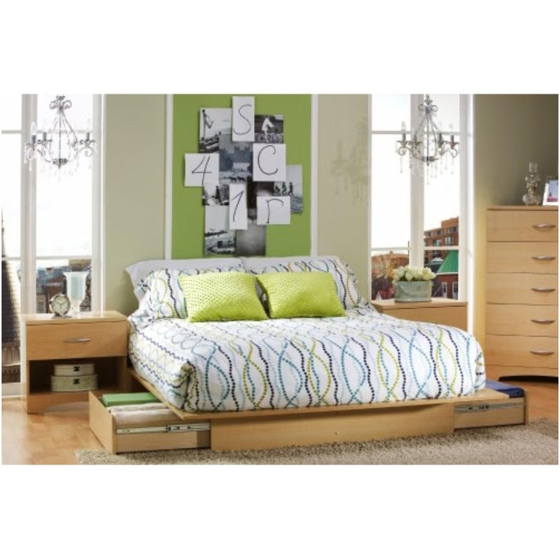 Furniture Gray Upholstered Queen Bed Frame Lift