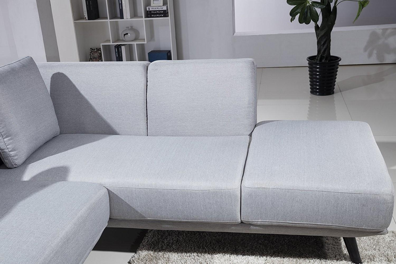 Furniture Grey Sectional Sofa Living Room Gray