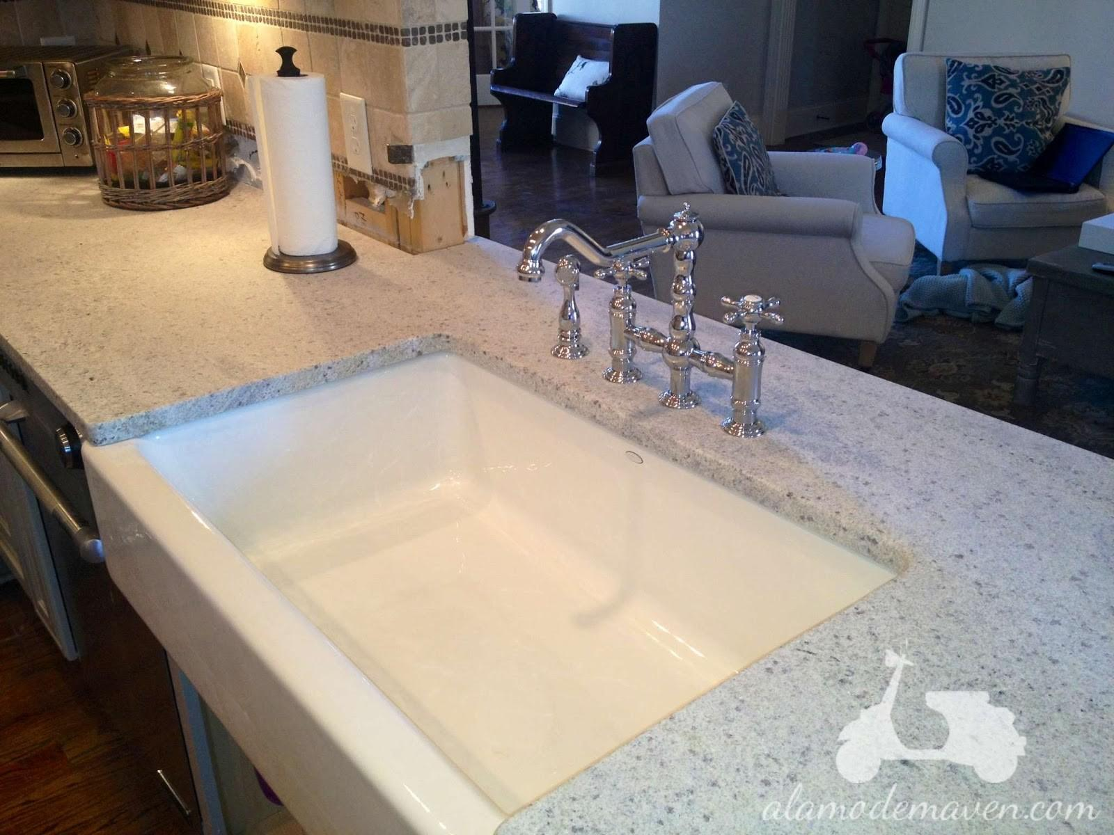 Furniture Kashmir White Granite Rectangular Sink
