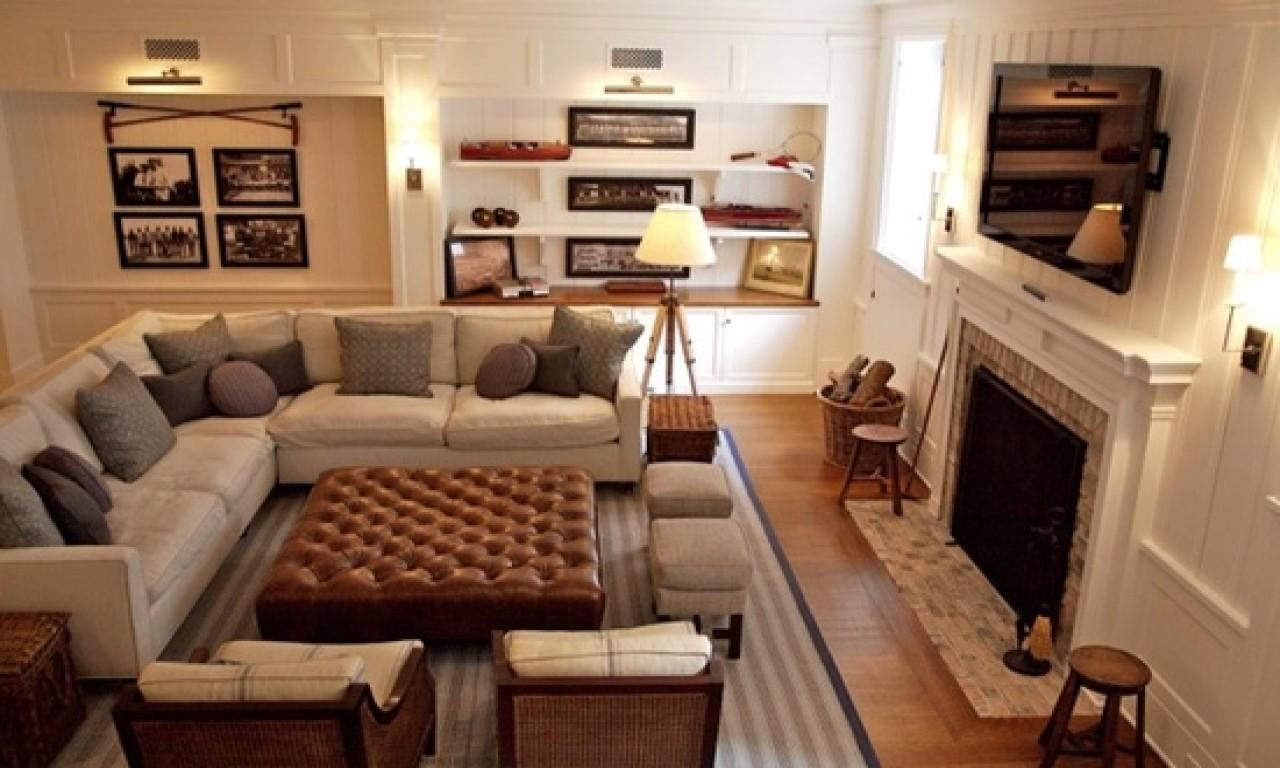 Furniture Layout Ideas Basement Family Room