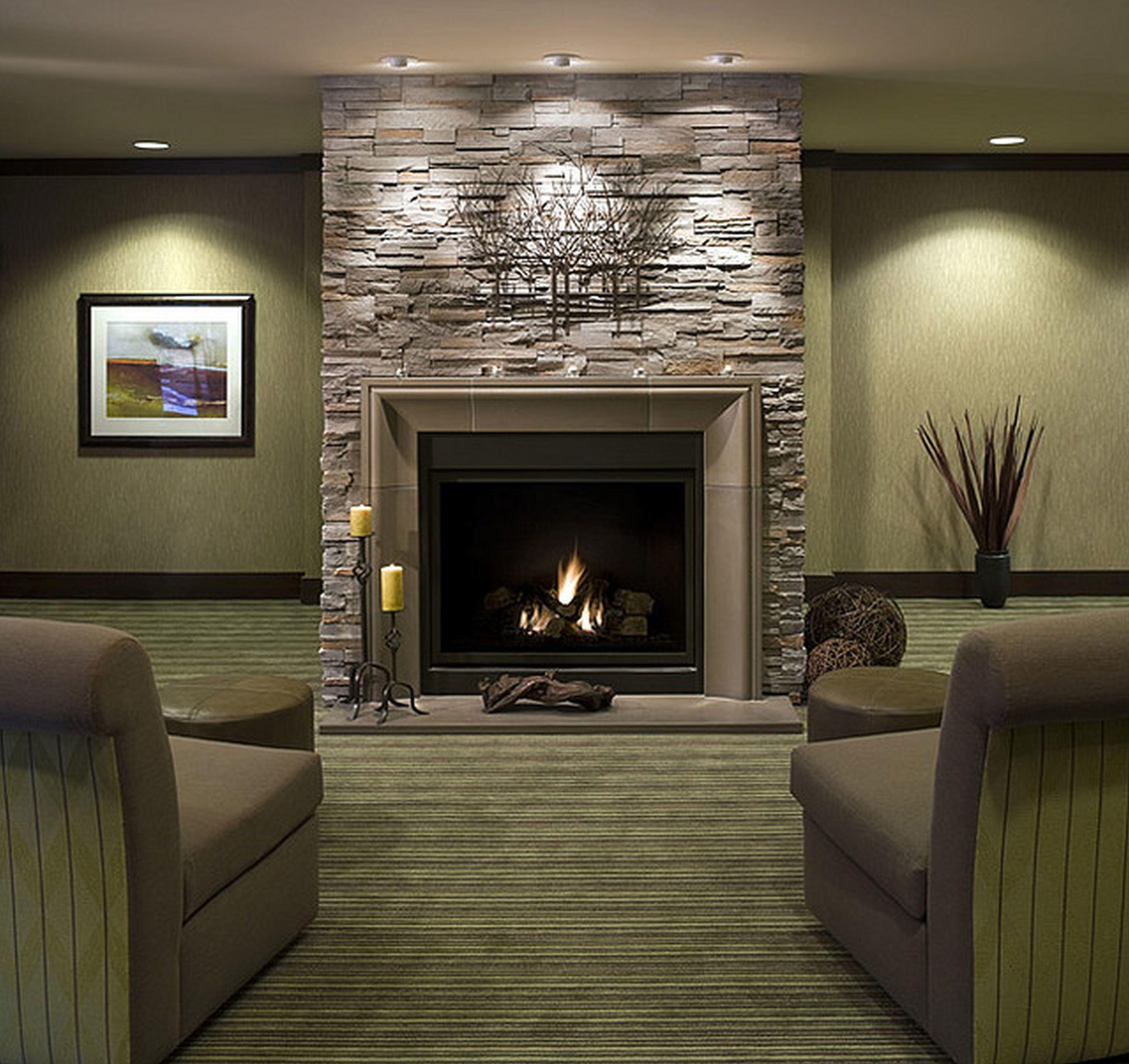Furniture Living Room Brick Fireplace