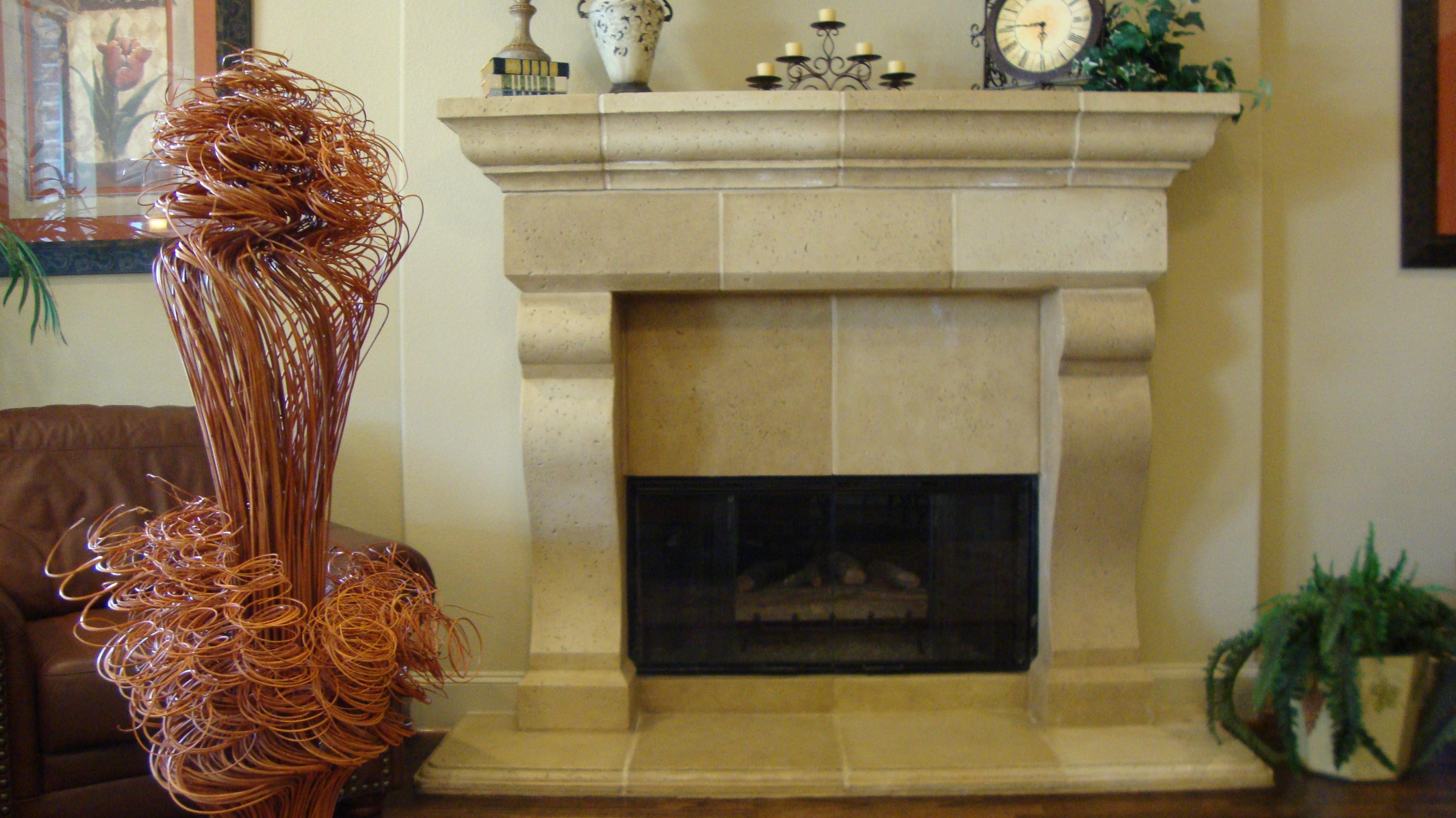 Furniture Luxurious Marble Fireplace Nice