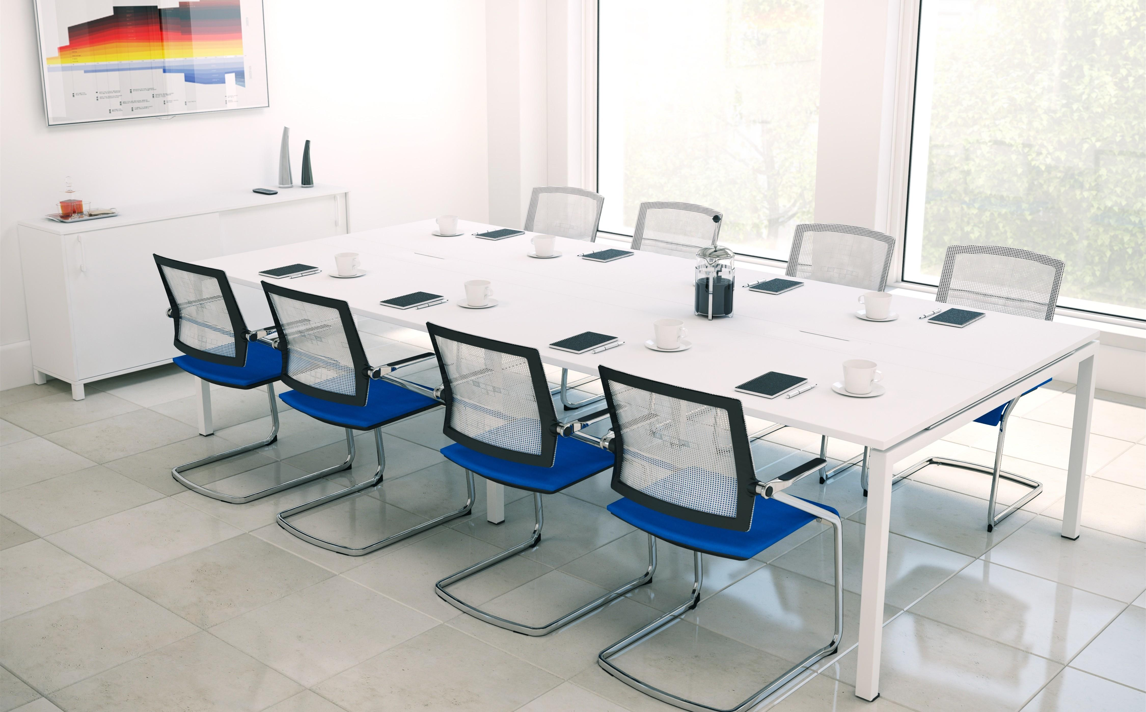 Furniture Luxurious White Modern Conference Table
