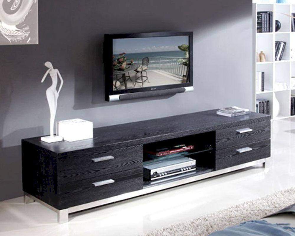 Furniture Modern Media Consoles Black Storage