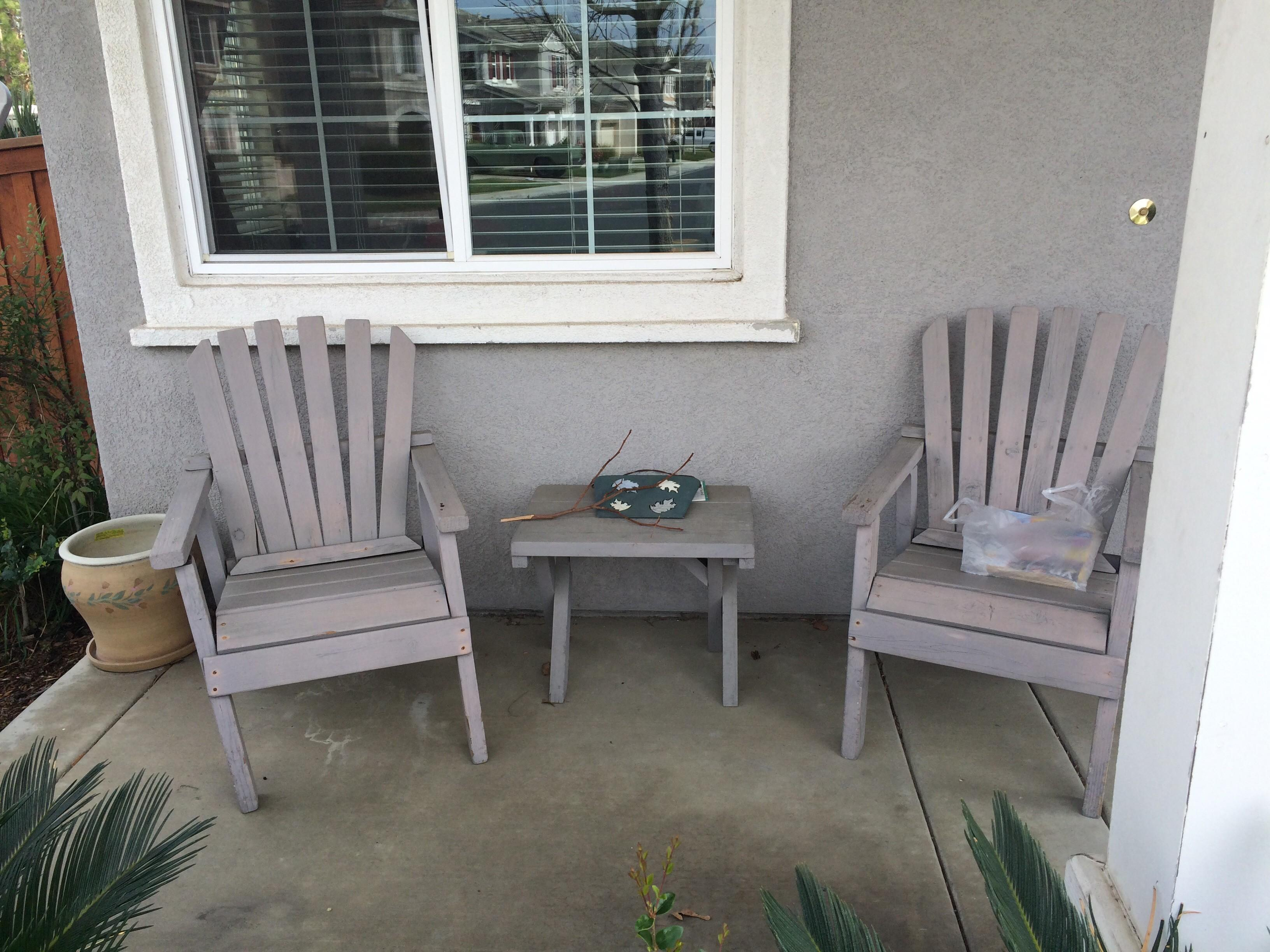 Furniture Old Front Porch Wood Chairs