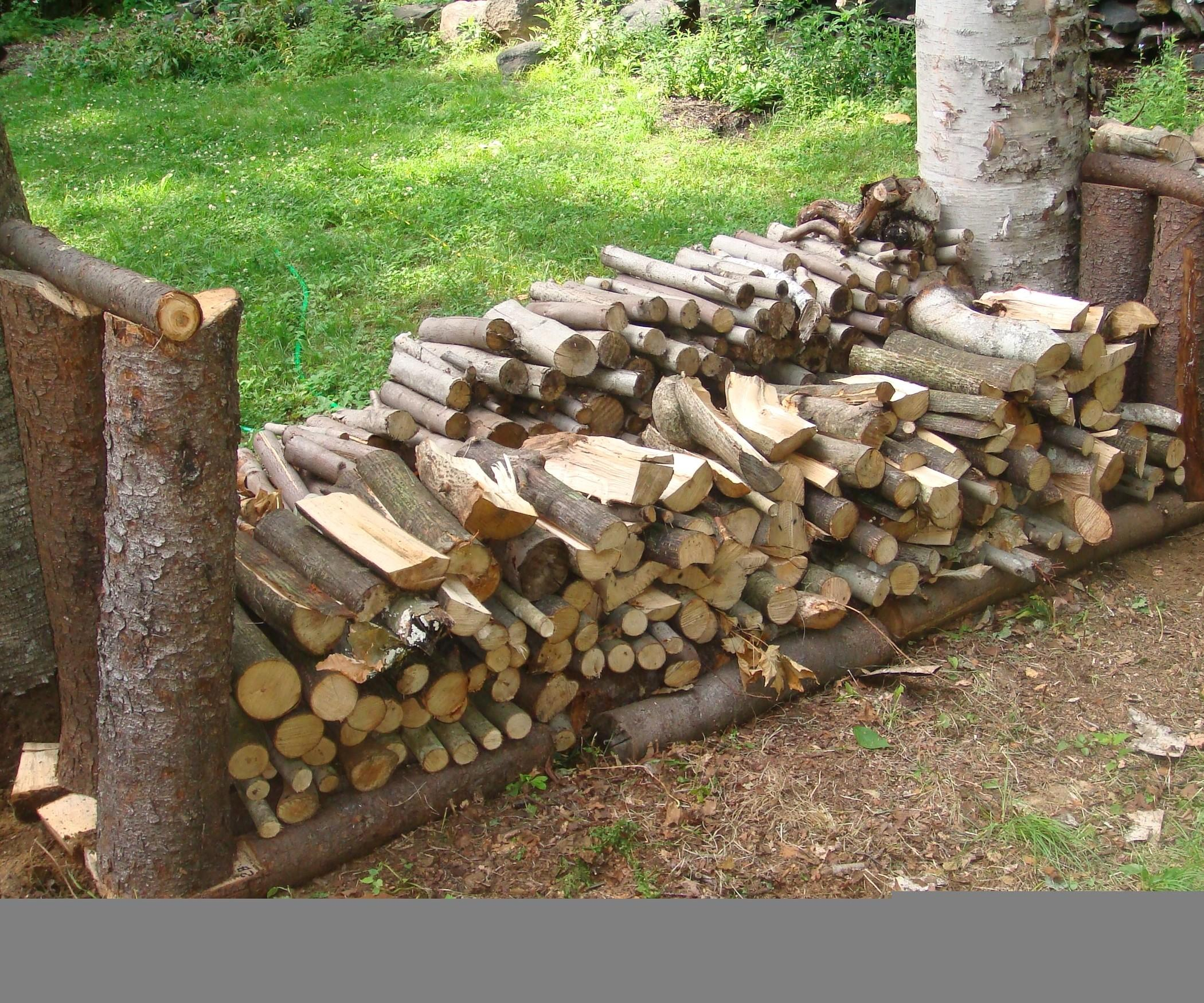 Furniture Rustic Firewood Rack Log Wood Material