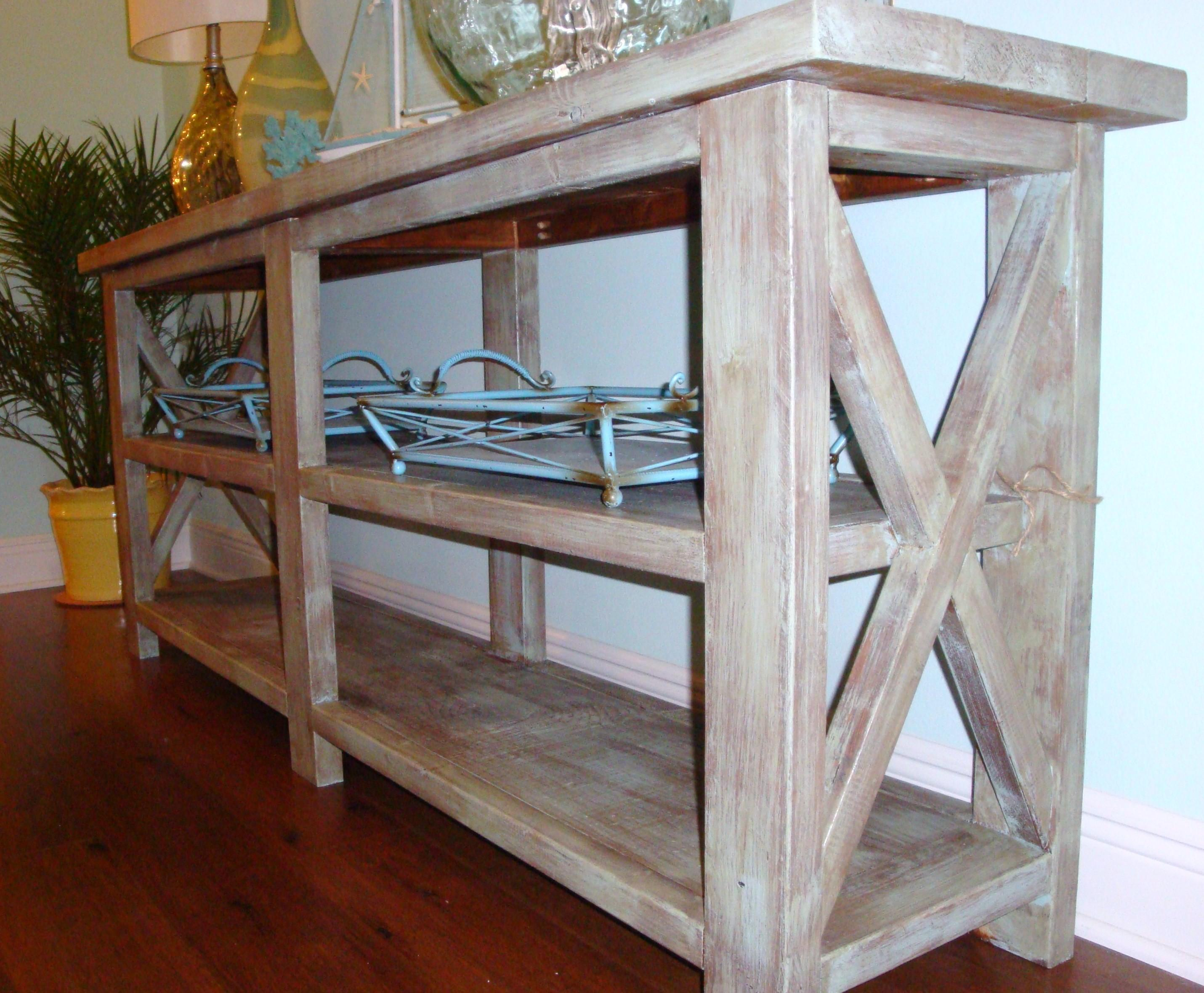 Furniture Simple Custom Diy Rustic Wood Console Table