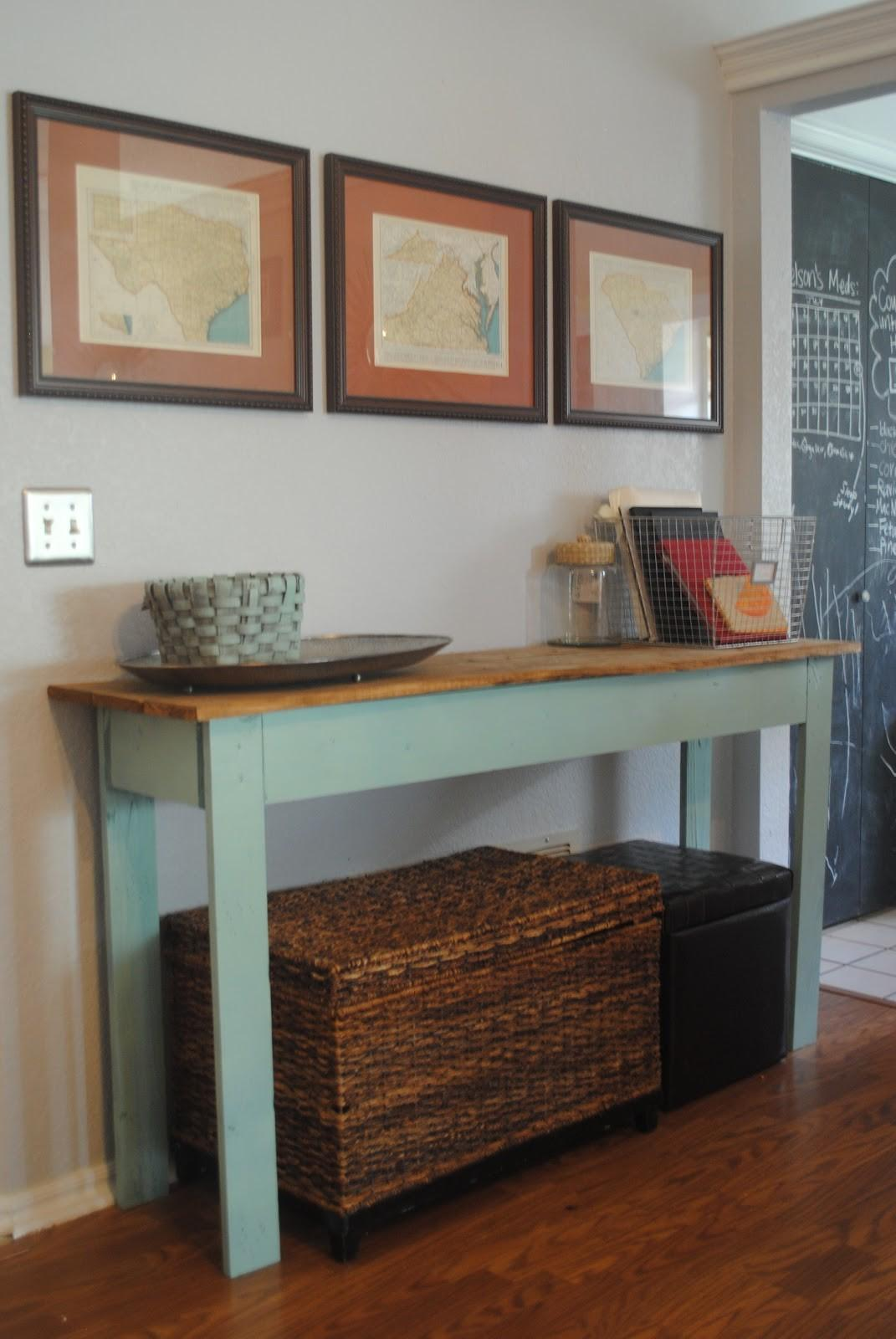 Picture of: Furniture Tall Narrow Natural Wood Entryway Table Decoratorist 192696