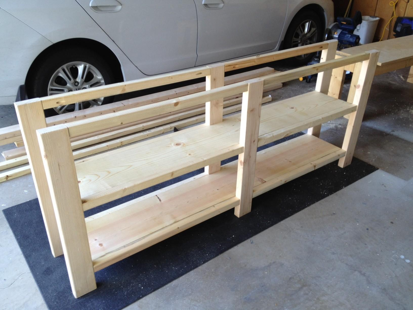 Furniture Unfinished Custom Diy Rustic Pine Wood Console