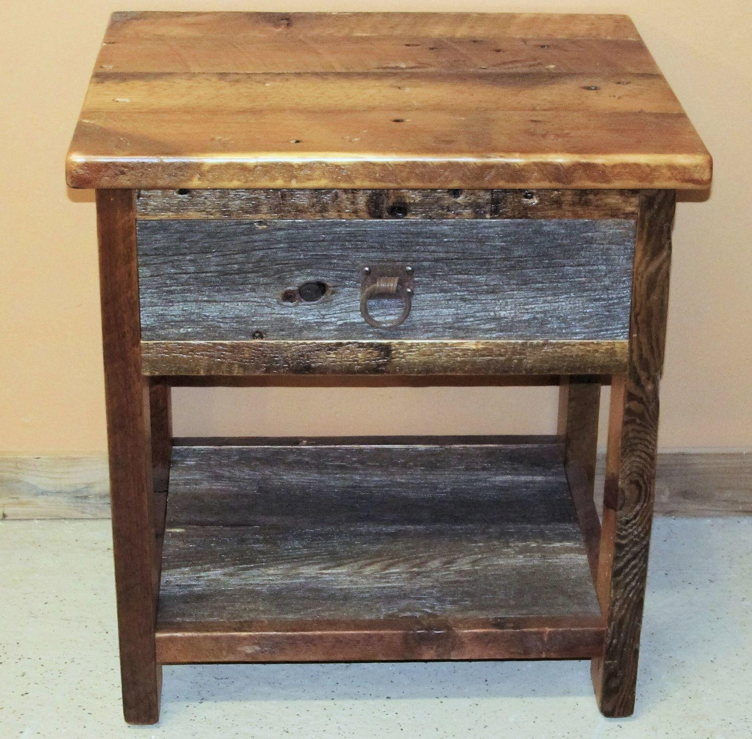 Furniture Unique Reclaimed Wood Nightstand Fabulous