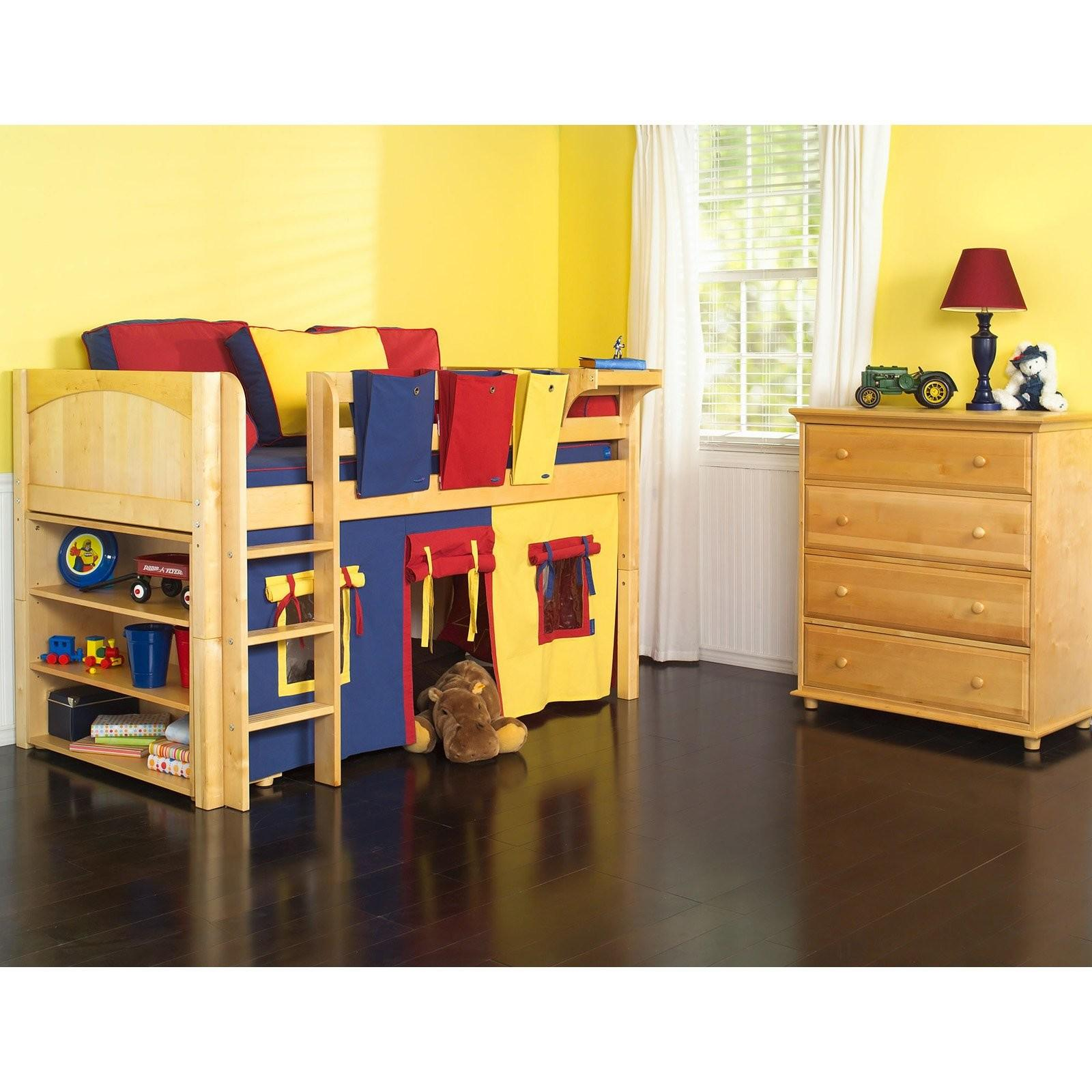 Furniture White Over Queen Bunk Bed