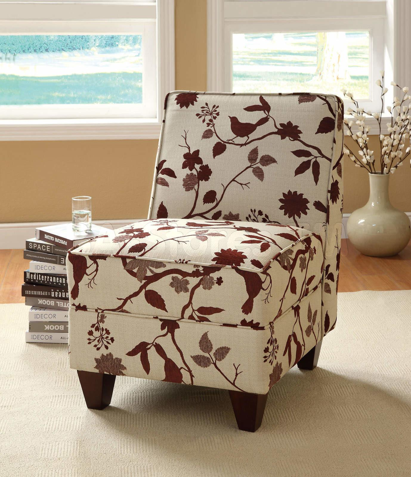 Furniture White Tree Brown Design Upholstered Accent