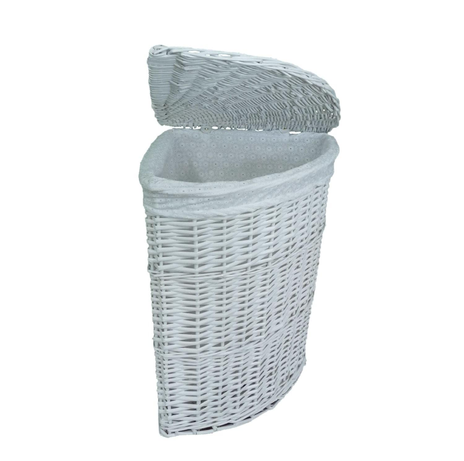 Furniture White Wicker Laundry Basket Your
