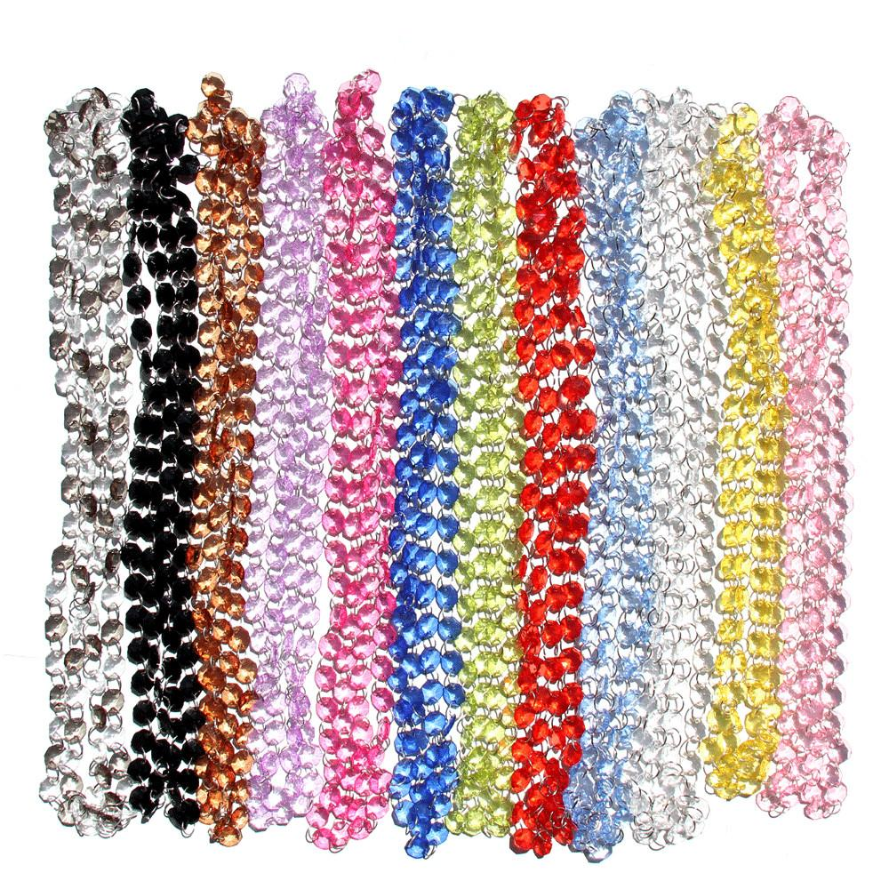 Fuschia Crystal Garlands Party Hot Pink