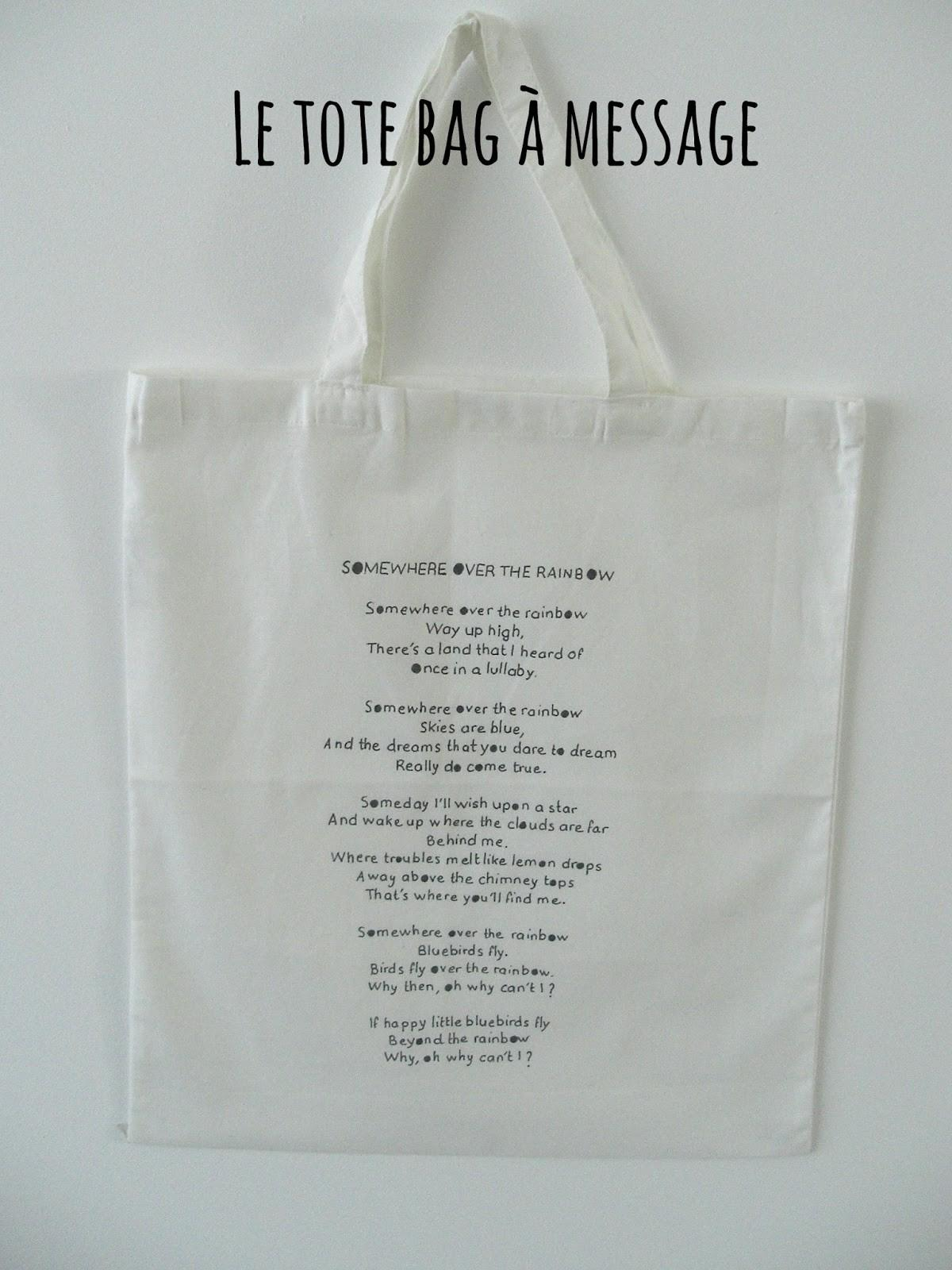 Gabulle Wonderland Tote Bag Message
