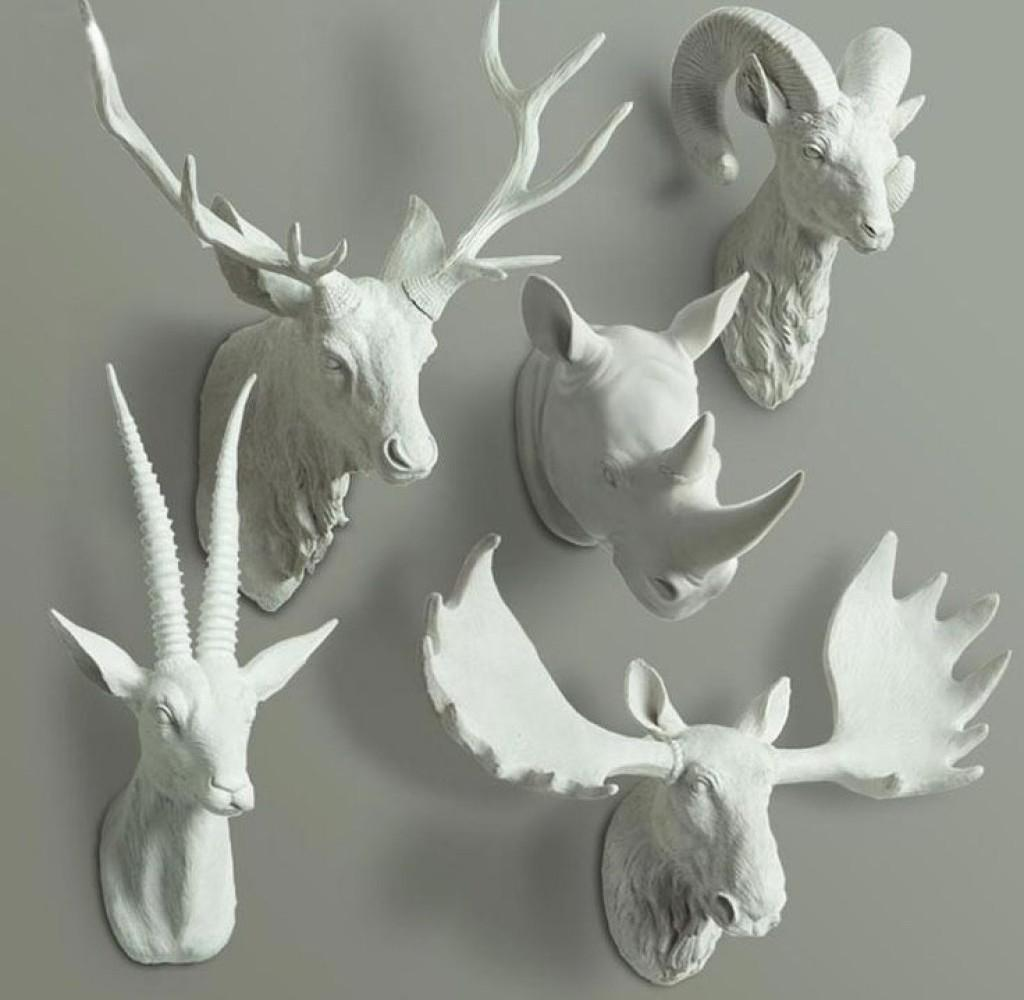 Gallant Deer Head Wall Mount Then Faux