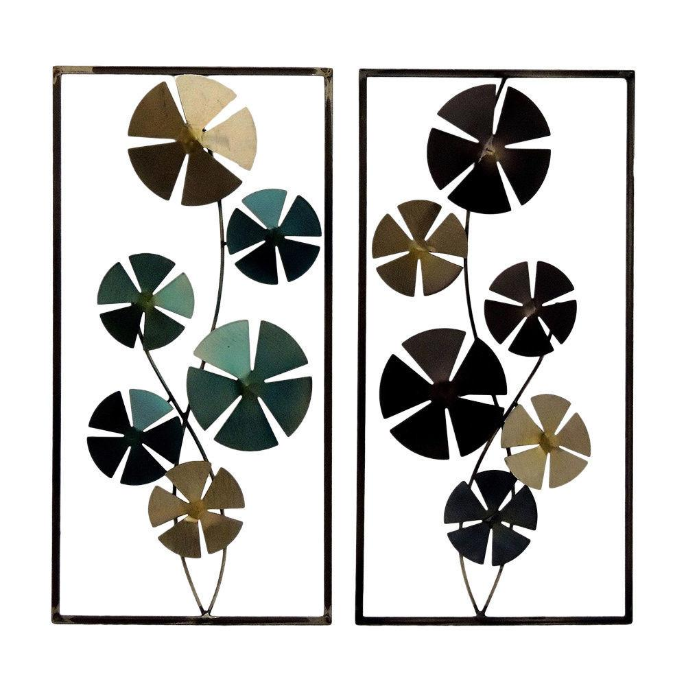 Gallerie Decor Geo Circles Metal Wall Art Set