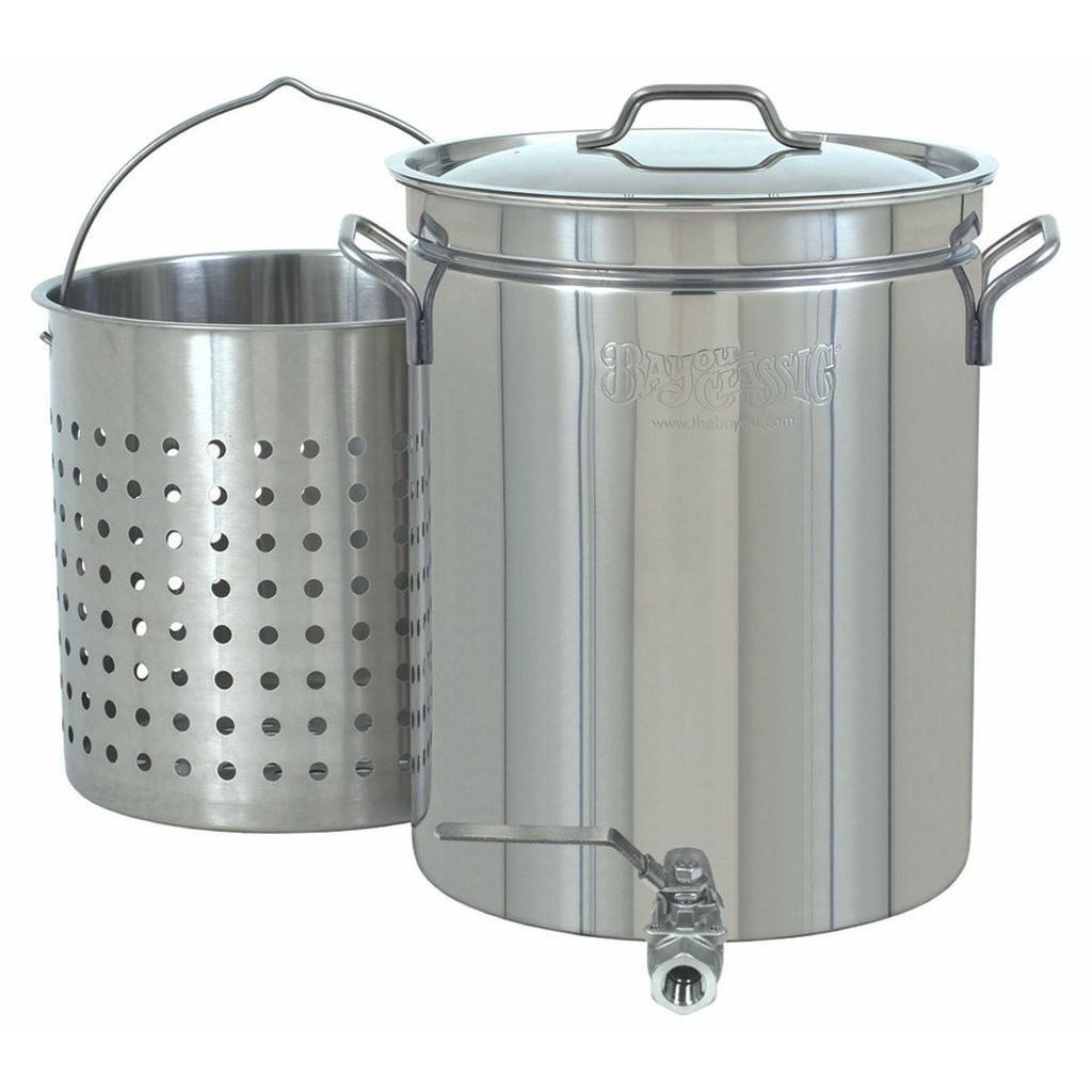 Gallon Stainless Steel Stock Pot Spigot Basket