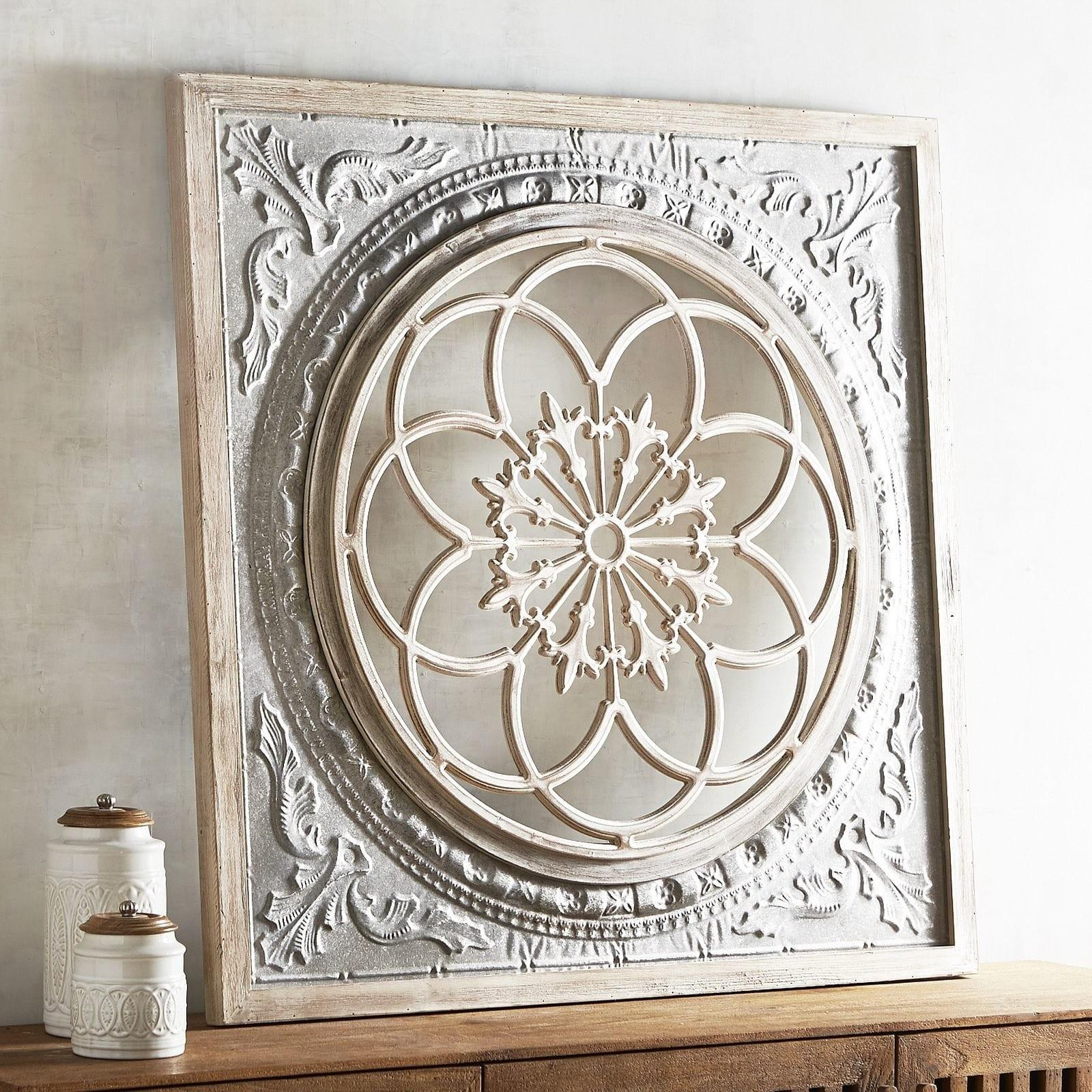 Galvanized Medallion Wall Decor Pier Imports