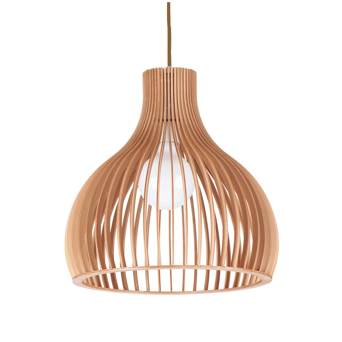 Ganto 350 Wooden Pendant Light P1028ganto350 Led Specials