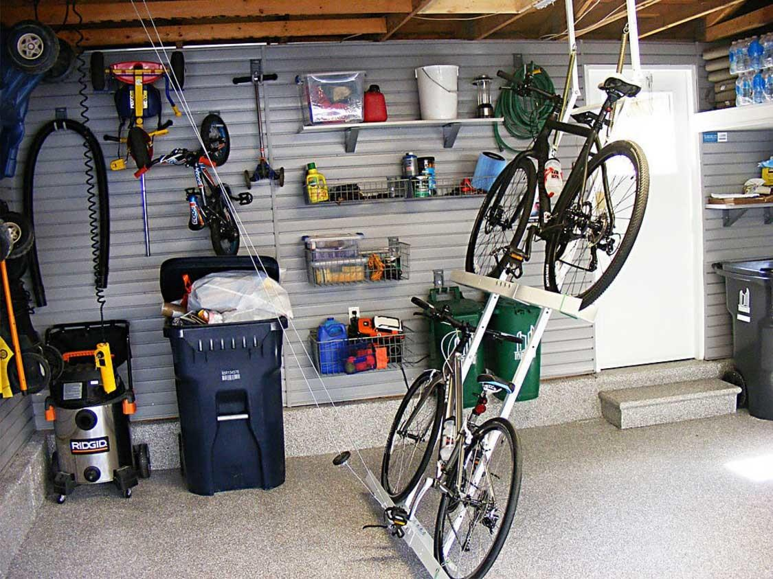 Garage Bike Storage Ideas Overhead Horizontal